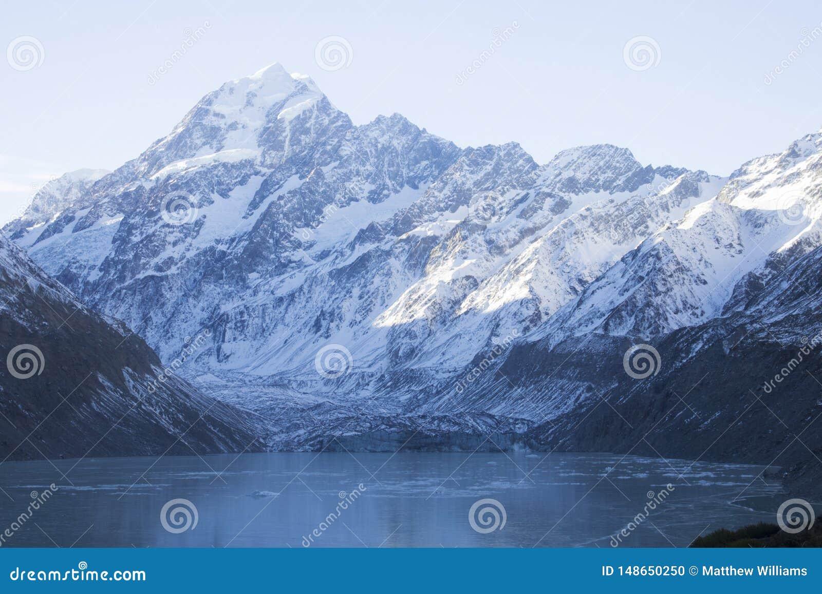 Una tierra congelada en Nueva Zelanda