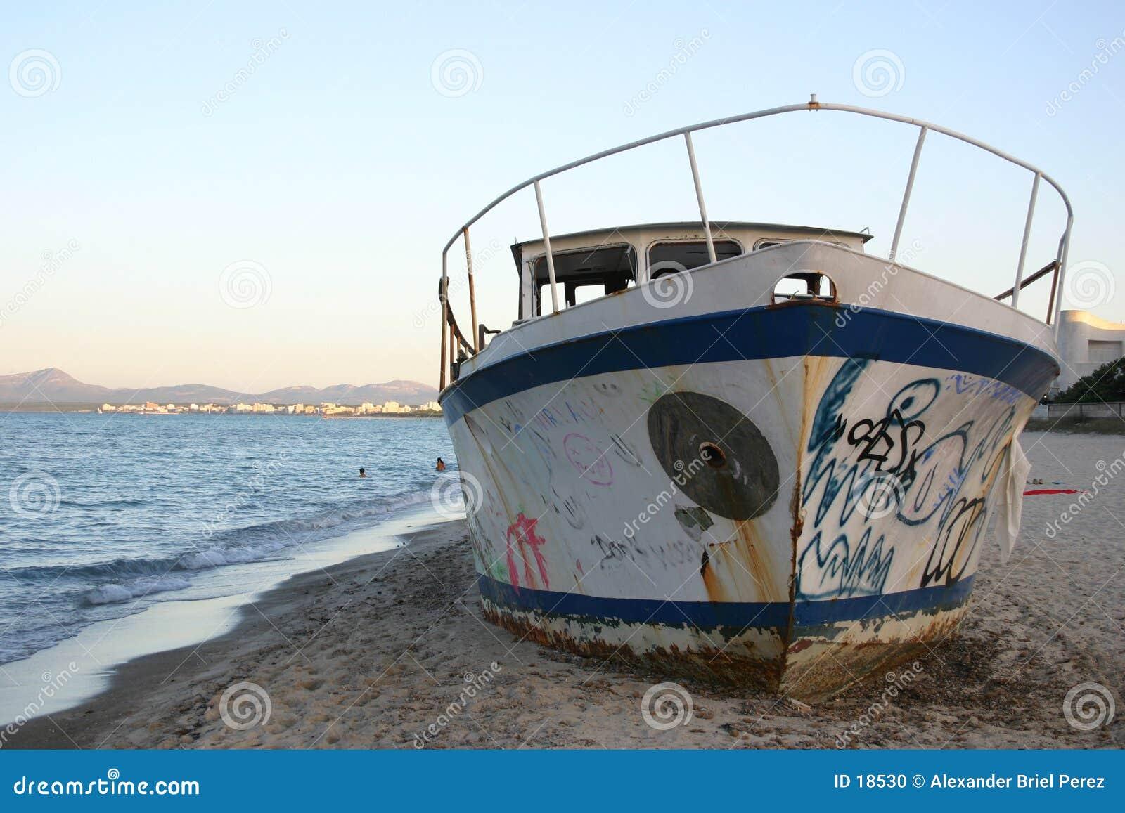 Una vecchia barca