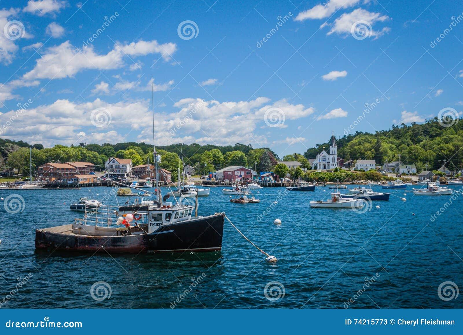 Una vecchia barca dell aragosta in Boothbay Habor, Maine