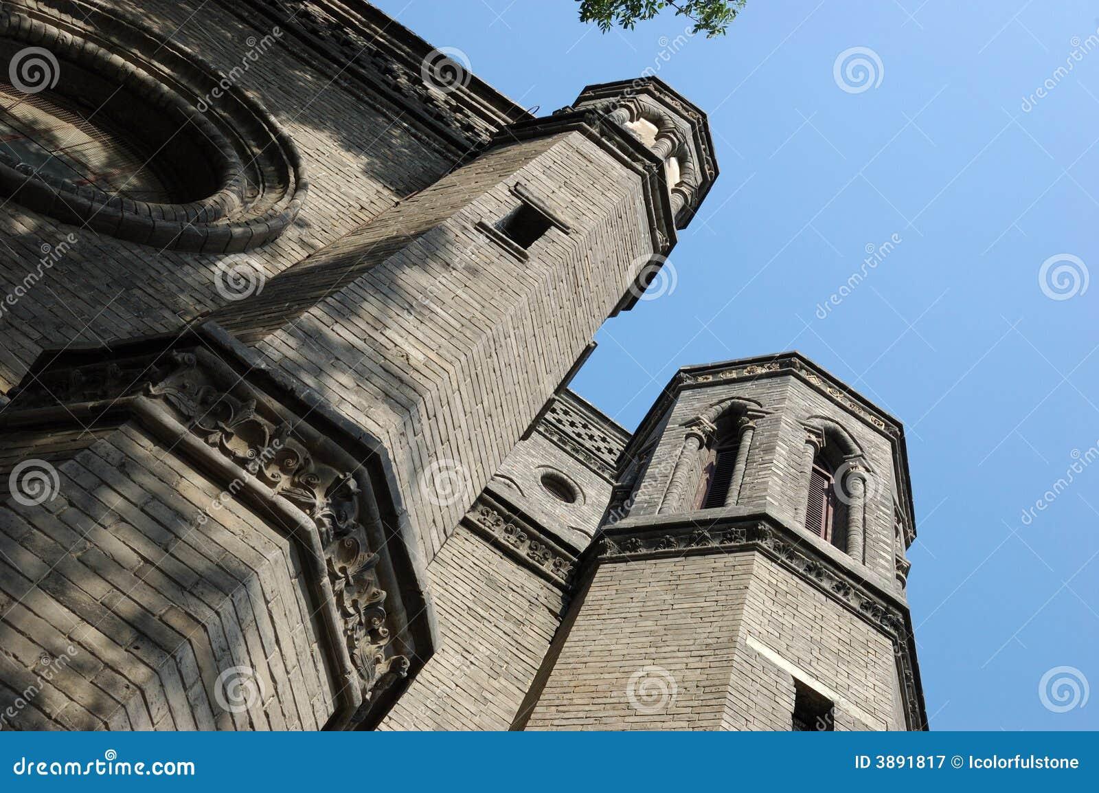 Una vecchia cattedrale a Tianjin