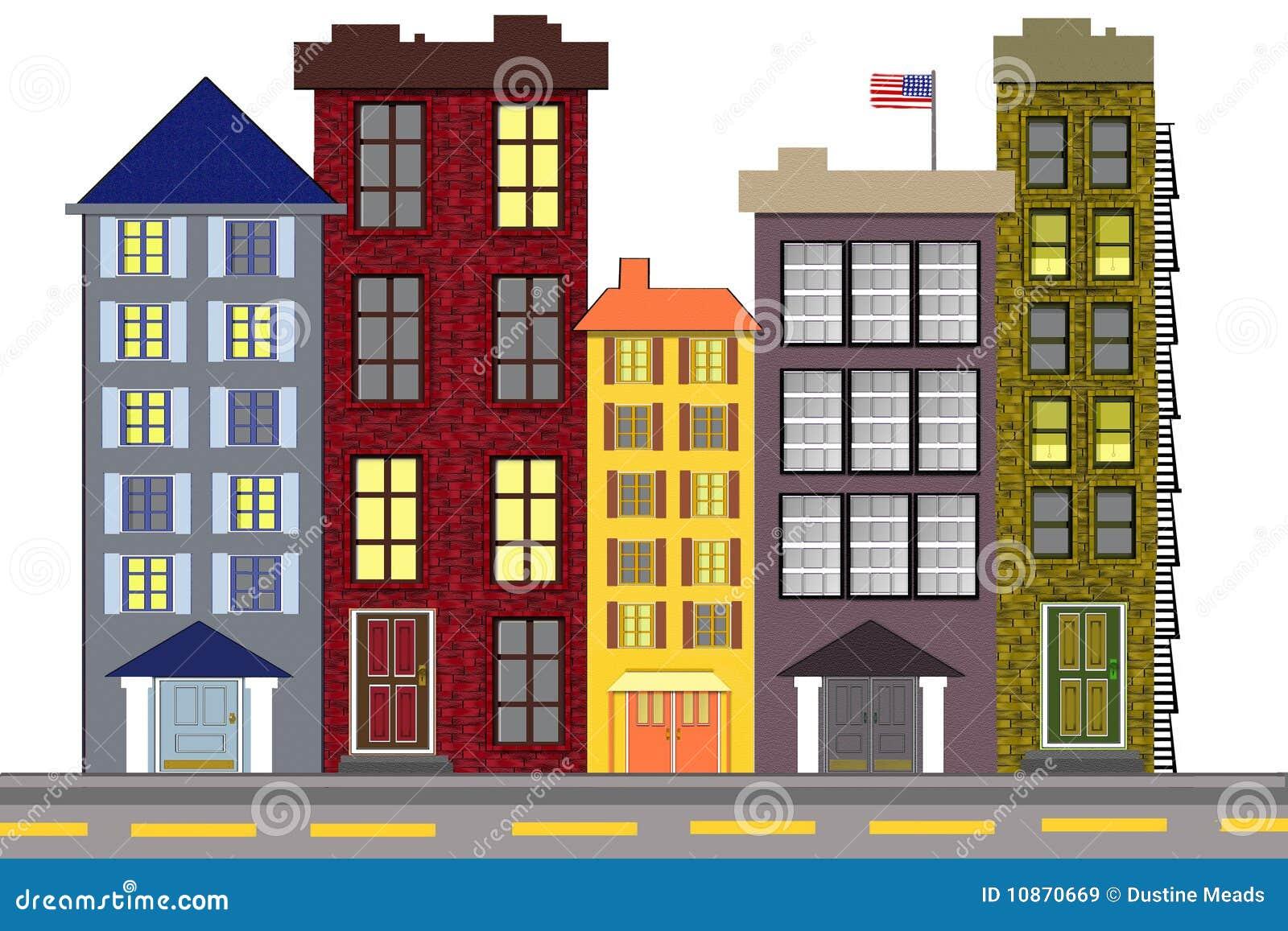 Una vecindad americana urbana