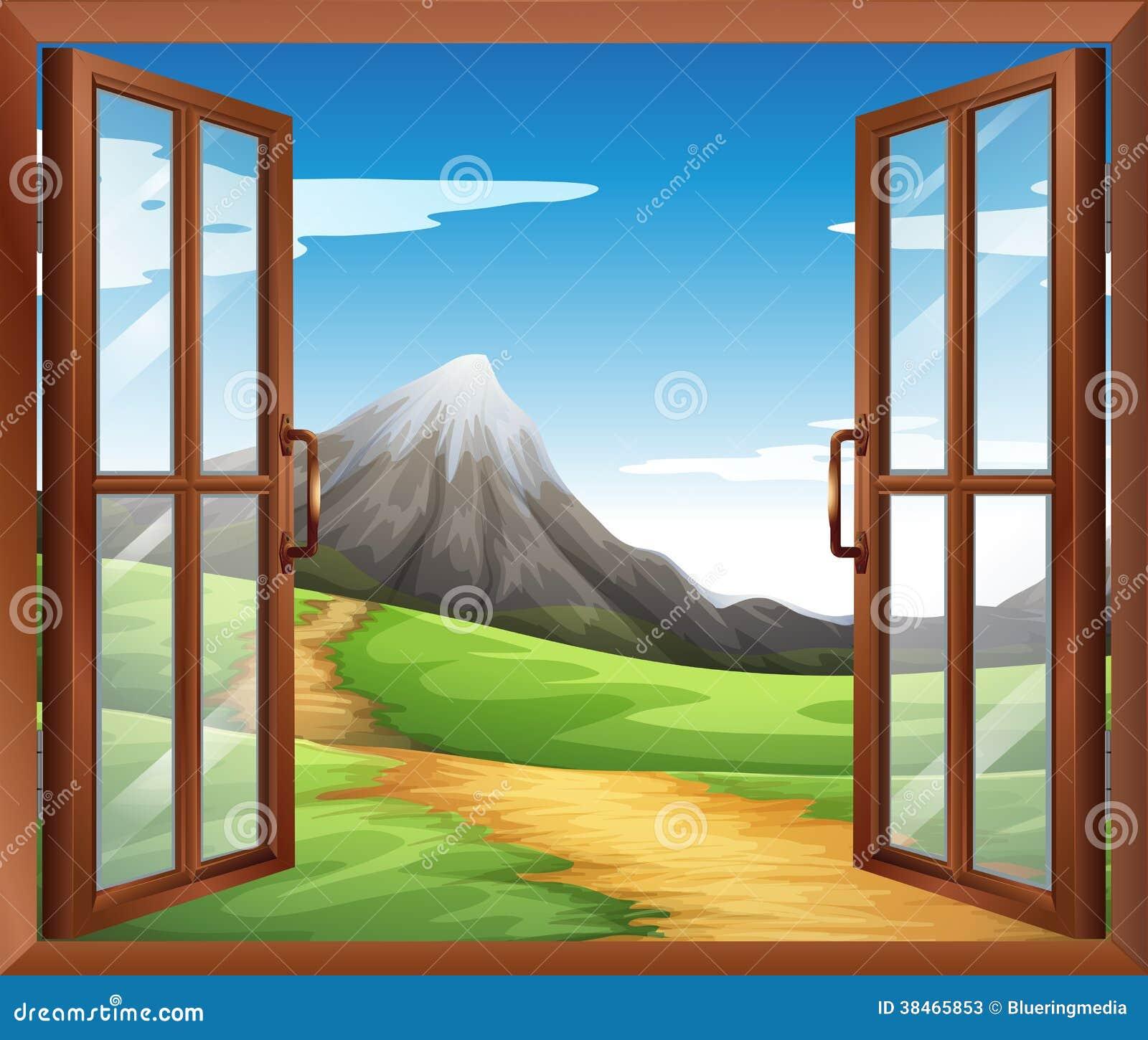 Una ventana abierta a trav s de la monta a fotos de for The ventana