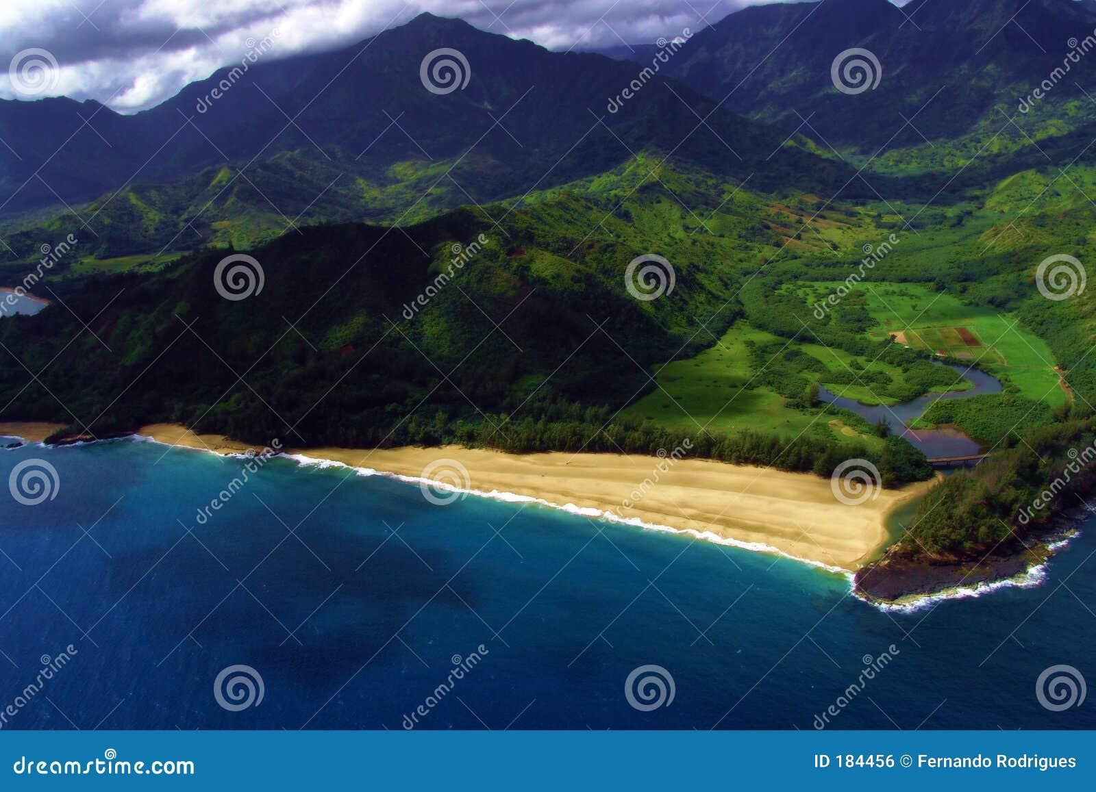 Una visión costera desde el mid-air