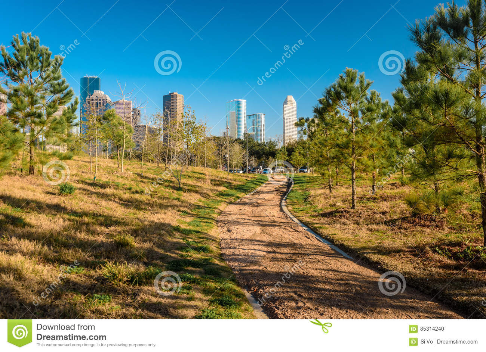 Una vista de Houston céntrica