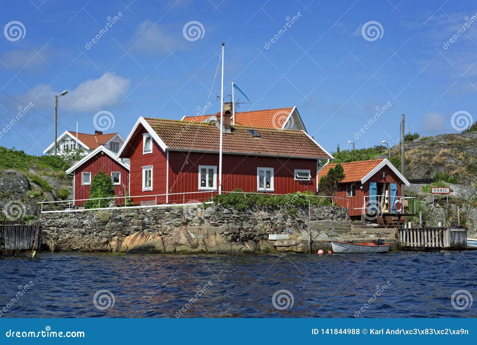 Una vista sopra Härön Dalla costa ovest svedese