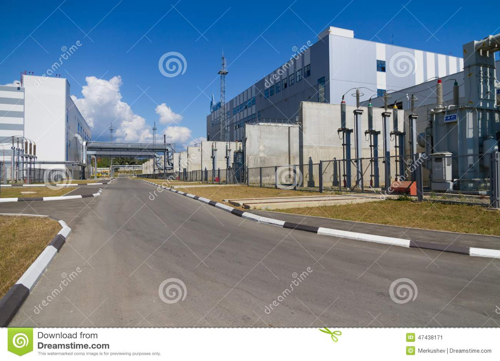 Una zona industriale