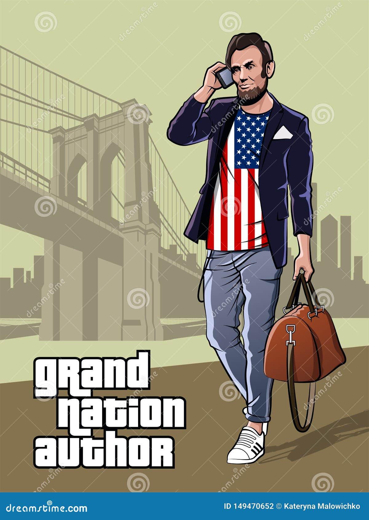 Unabhängigkeitstag-Plakat-moderner Präsident von den Vereinigten Staaten von Amerika