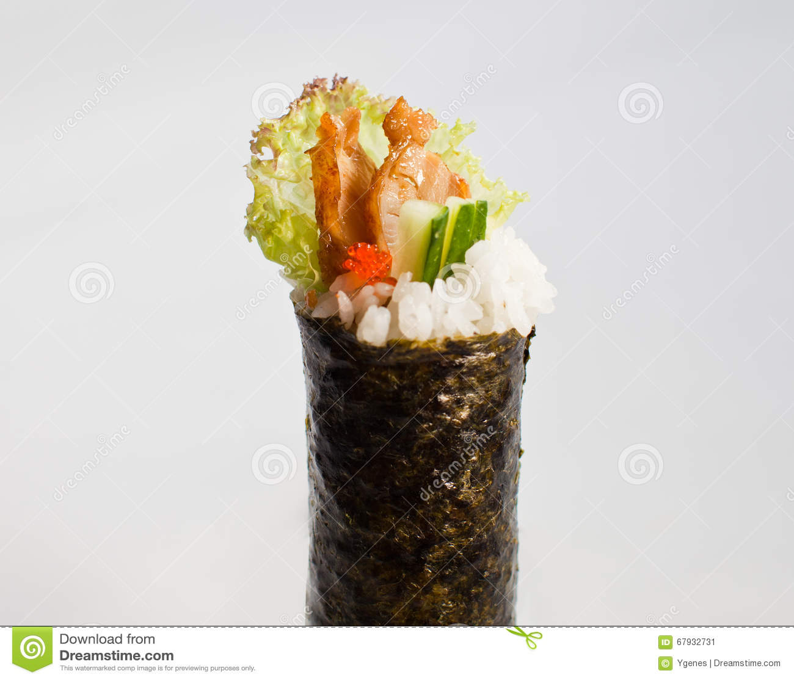 Unagi (Eel) Hand Roll Temaki Stock Image - Image: 67932731