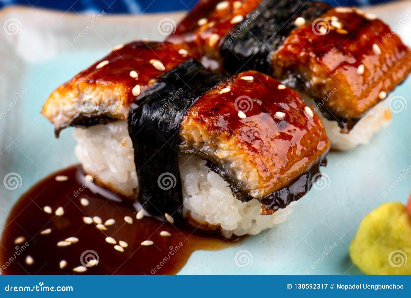 Unagi Sushi Or Japanese Eel Grilled, Stock Image - Image ...