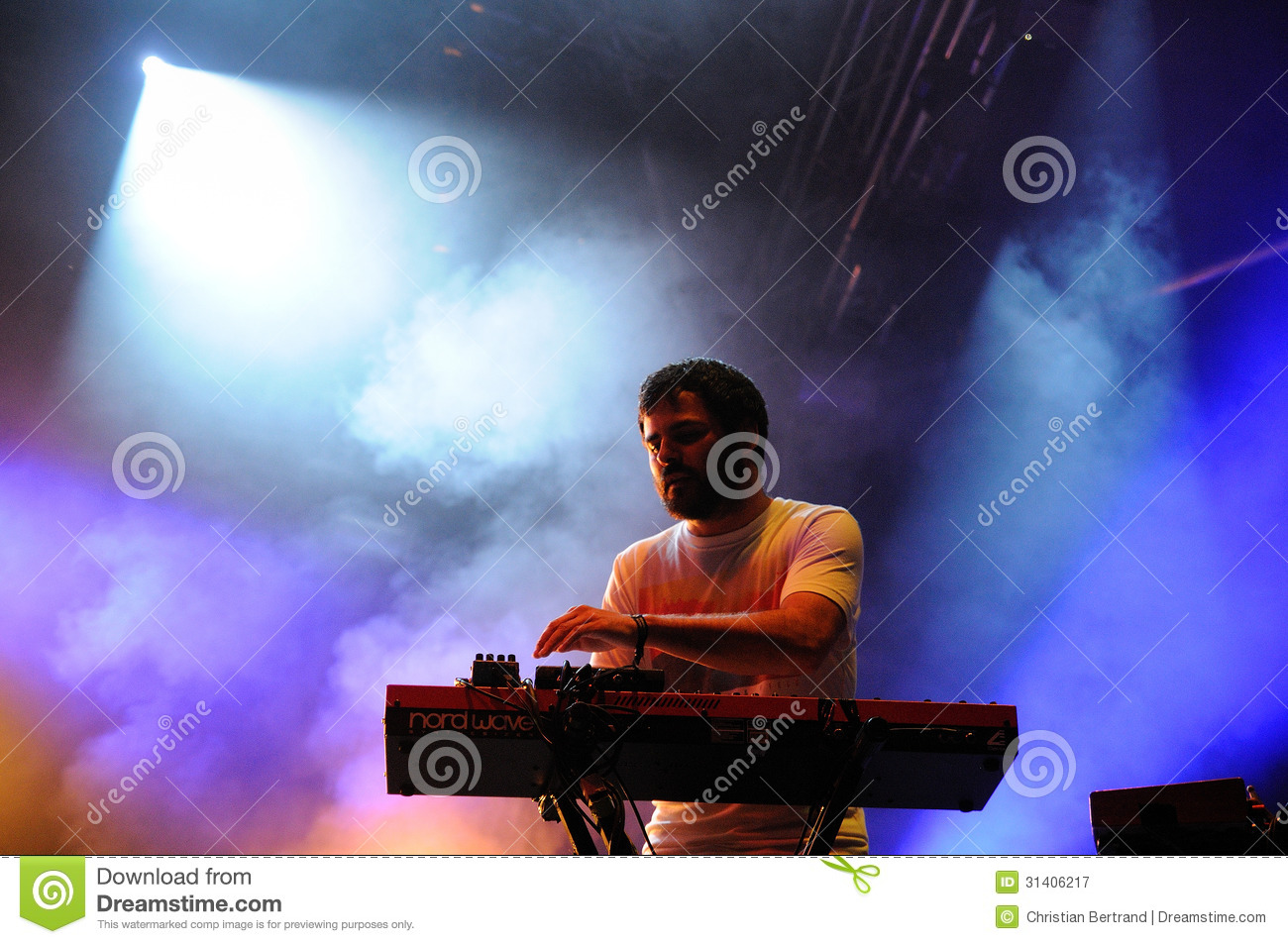 unai lazcano keyboardist of delorean band editorial