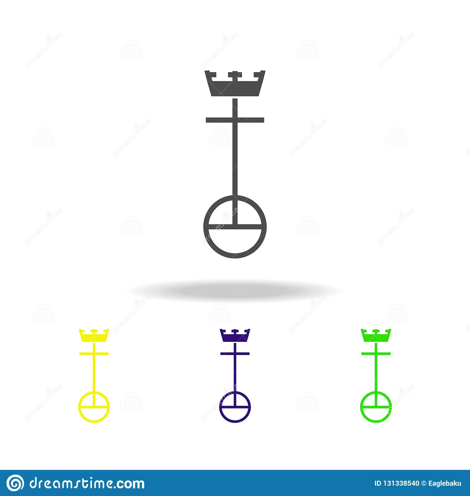 Unaitedkerk van het teken multicolored pictogram van Christus De gedetailleerde Unaited-Kerk van het pictogram van Christus kan v