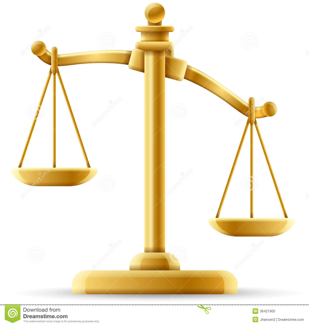 Unbalanced Justice Scale Royalty Free Stock Photo - Image: 36421905
