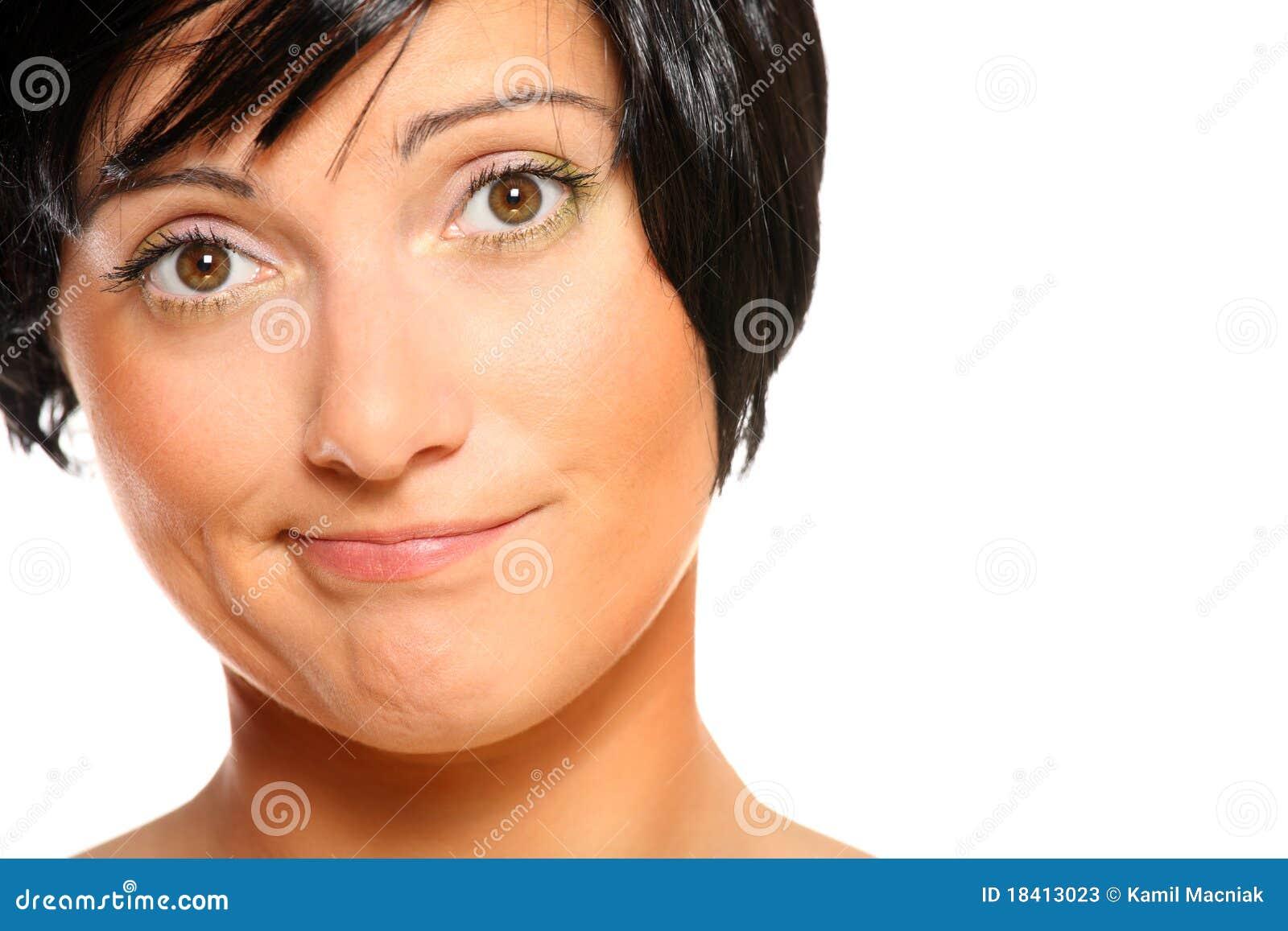 Unbefriedigte Frau stockbild. Bild von haar, ausdrücken