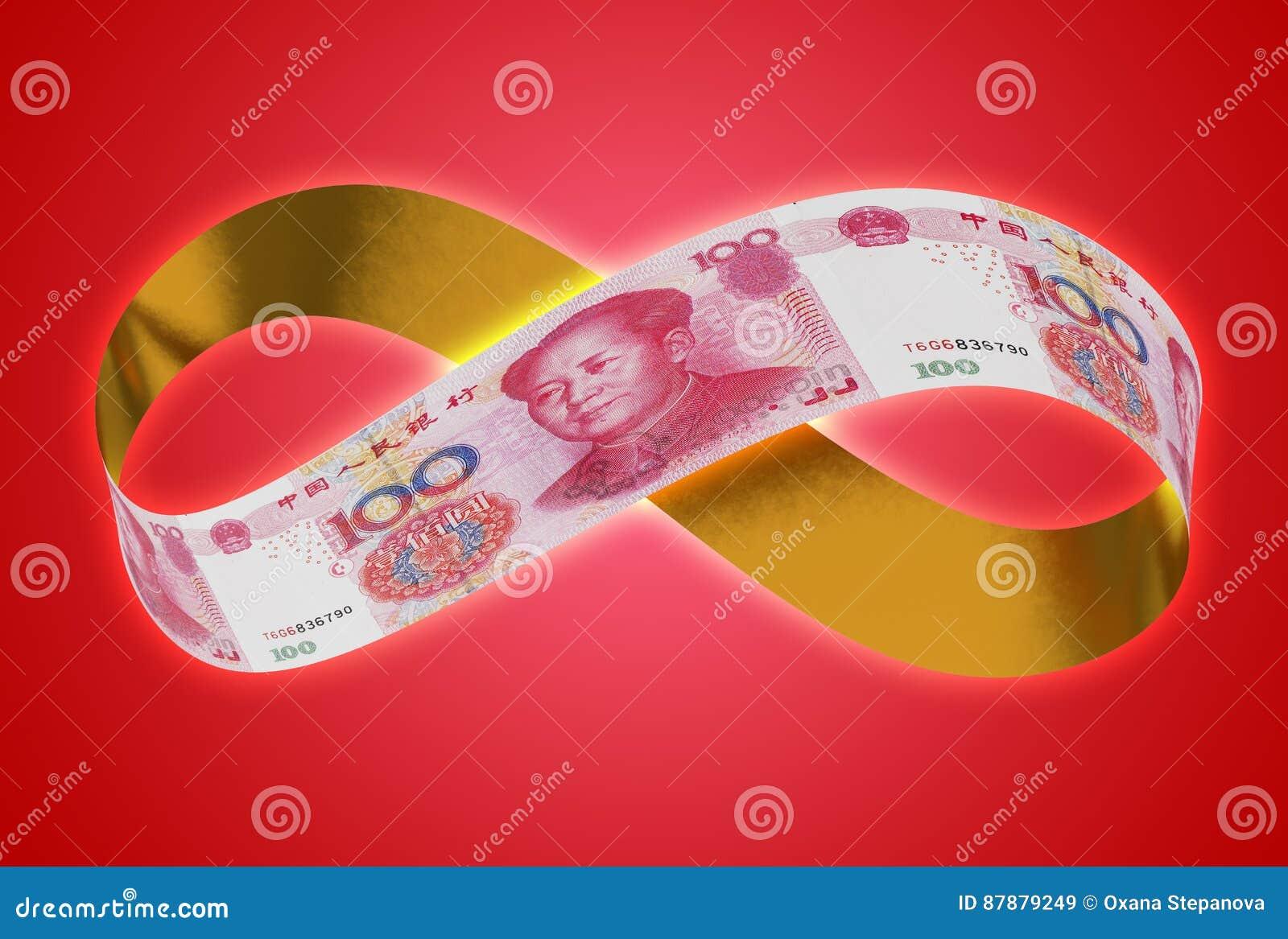 Unbegrenzter goldener Yuan