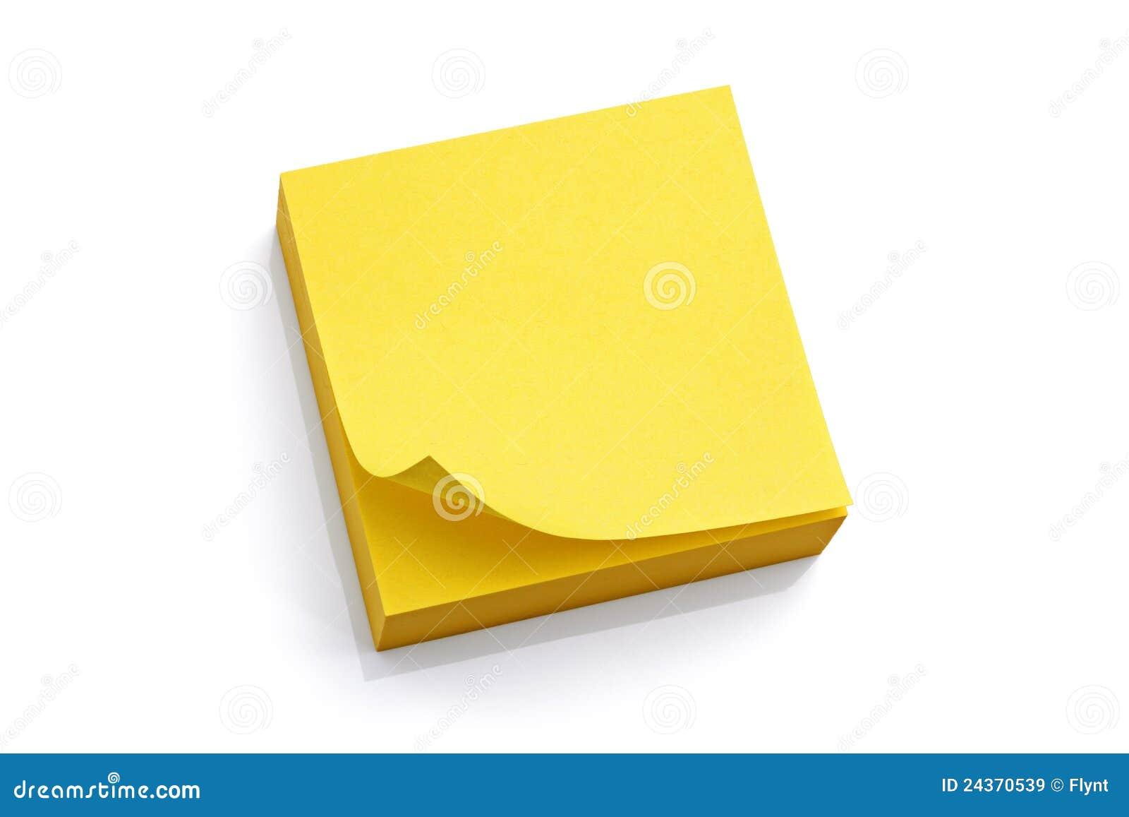 Unbelegte gelbe klebrige Anmerkung