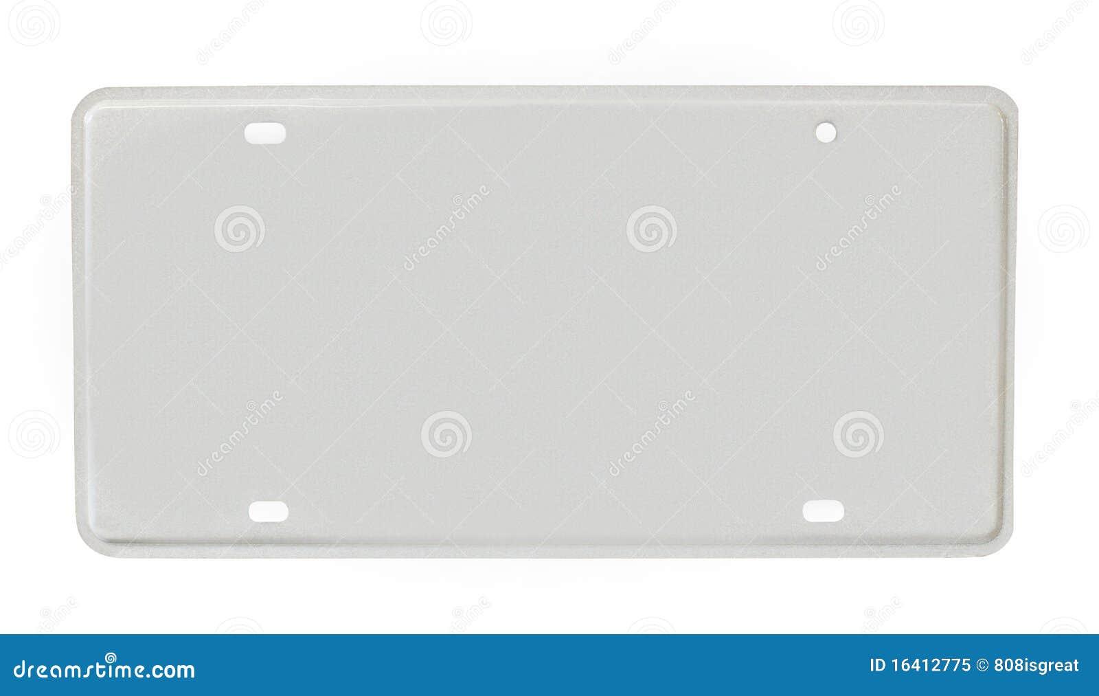 Unbelegtes Kfz-Kennzeichen stockbild. Bild von hintergrund - 16412775