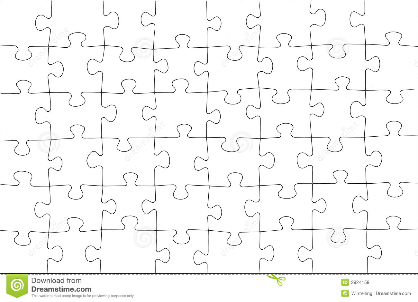 Unbelegtes Puzzlespiel