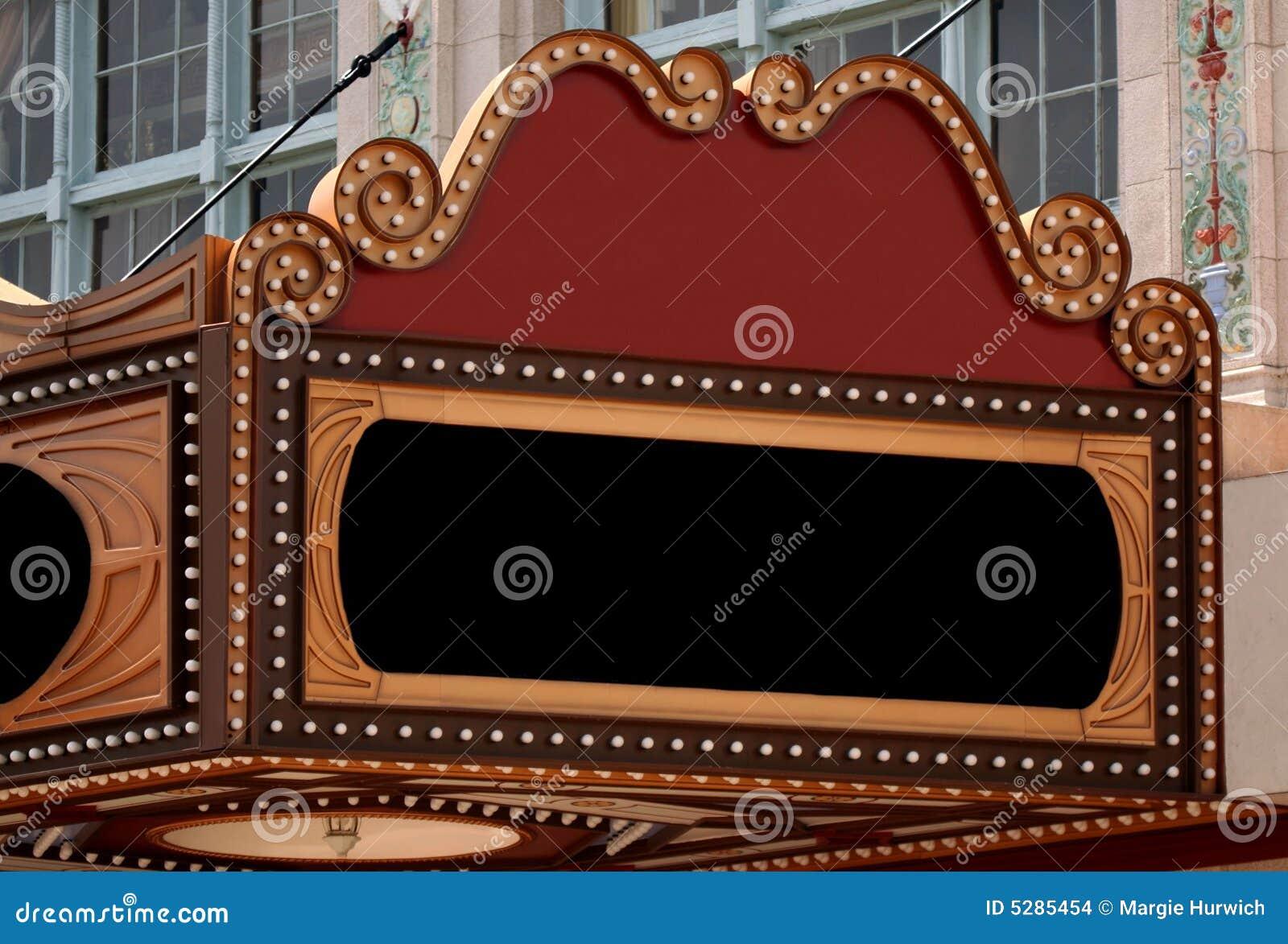 Unbelegtes Theater-Festzelt-Zeichen