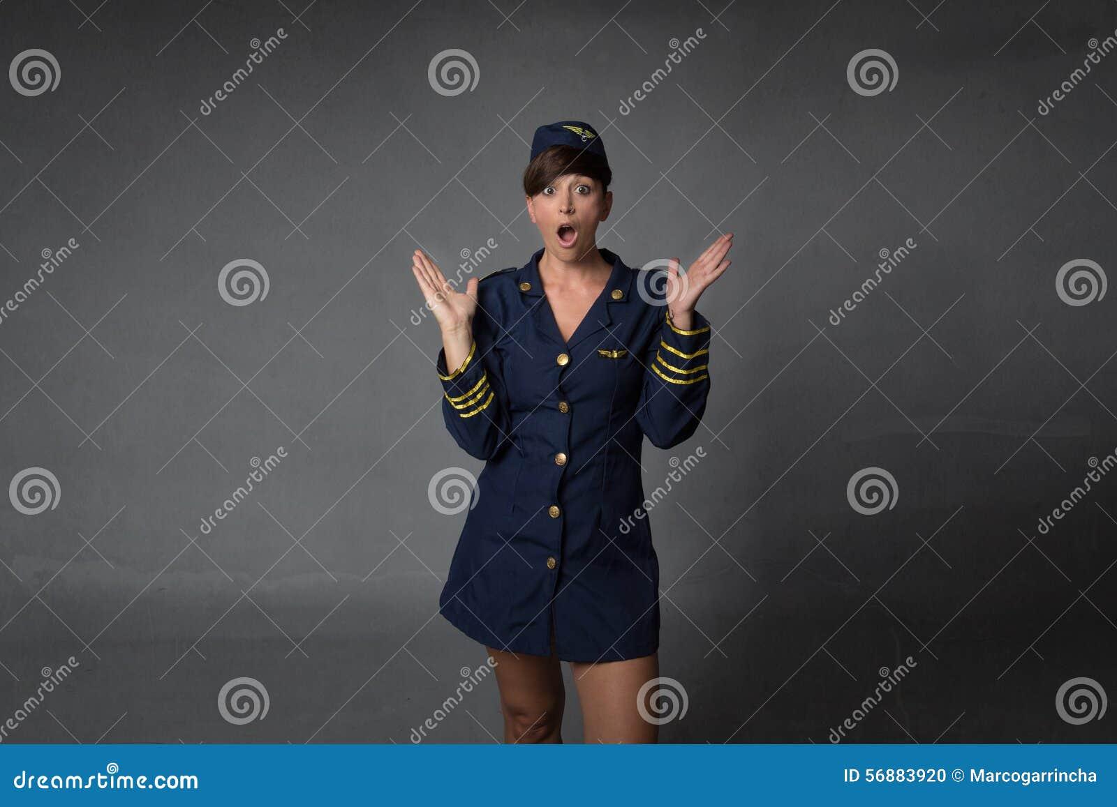 Unbelievingsuitdrukking voor stewardess