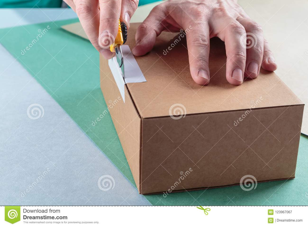 Unboxing the parcels Packed