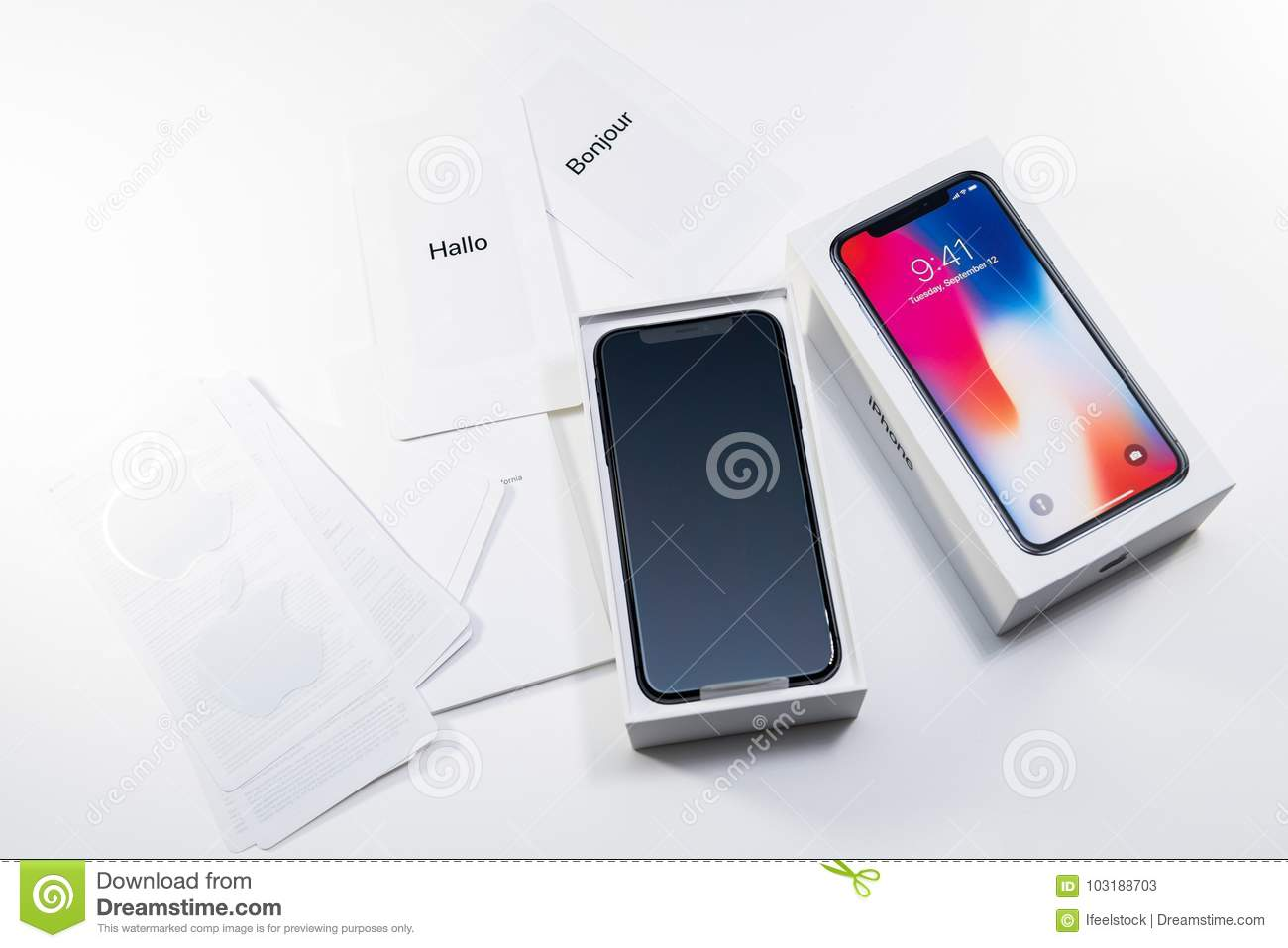 Unboxing Unpacking Of The Latest Iphone X 10 Editorial Stock Photo