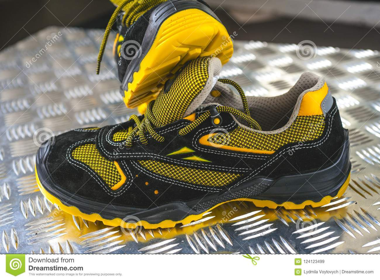 a179447d6b3a Unbranded Modern Sneaker In The Gym. Black-Yellow. Comfortable Shoes ...