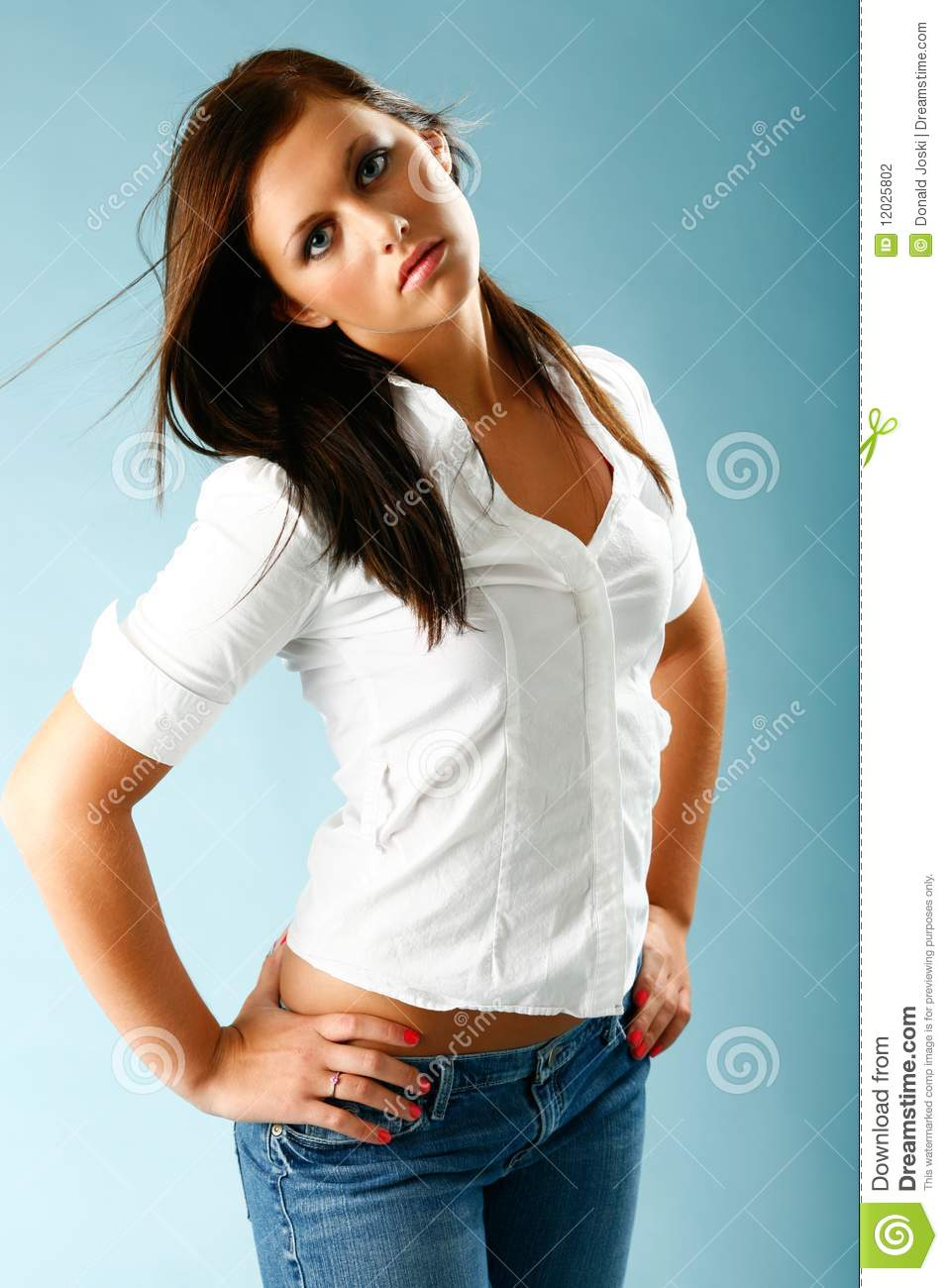 Woman With Blouse Unbuttoned 55