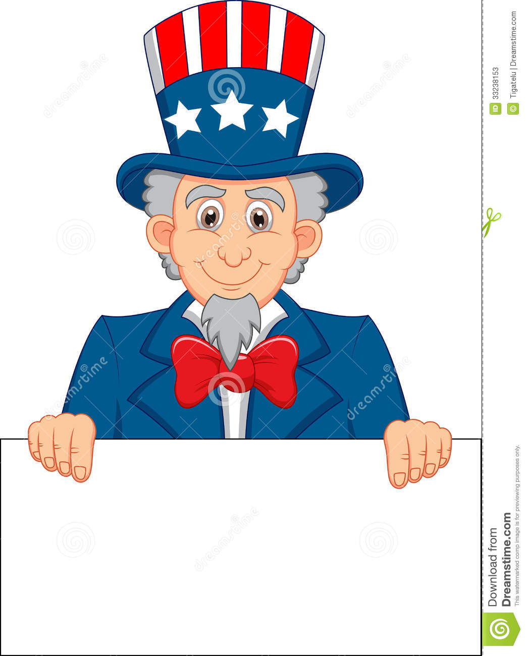 Uncle Sam Cartoon And Blank Sign Stock Photos - Image: 33238153