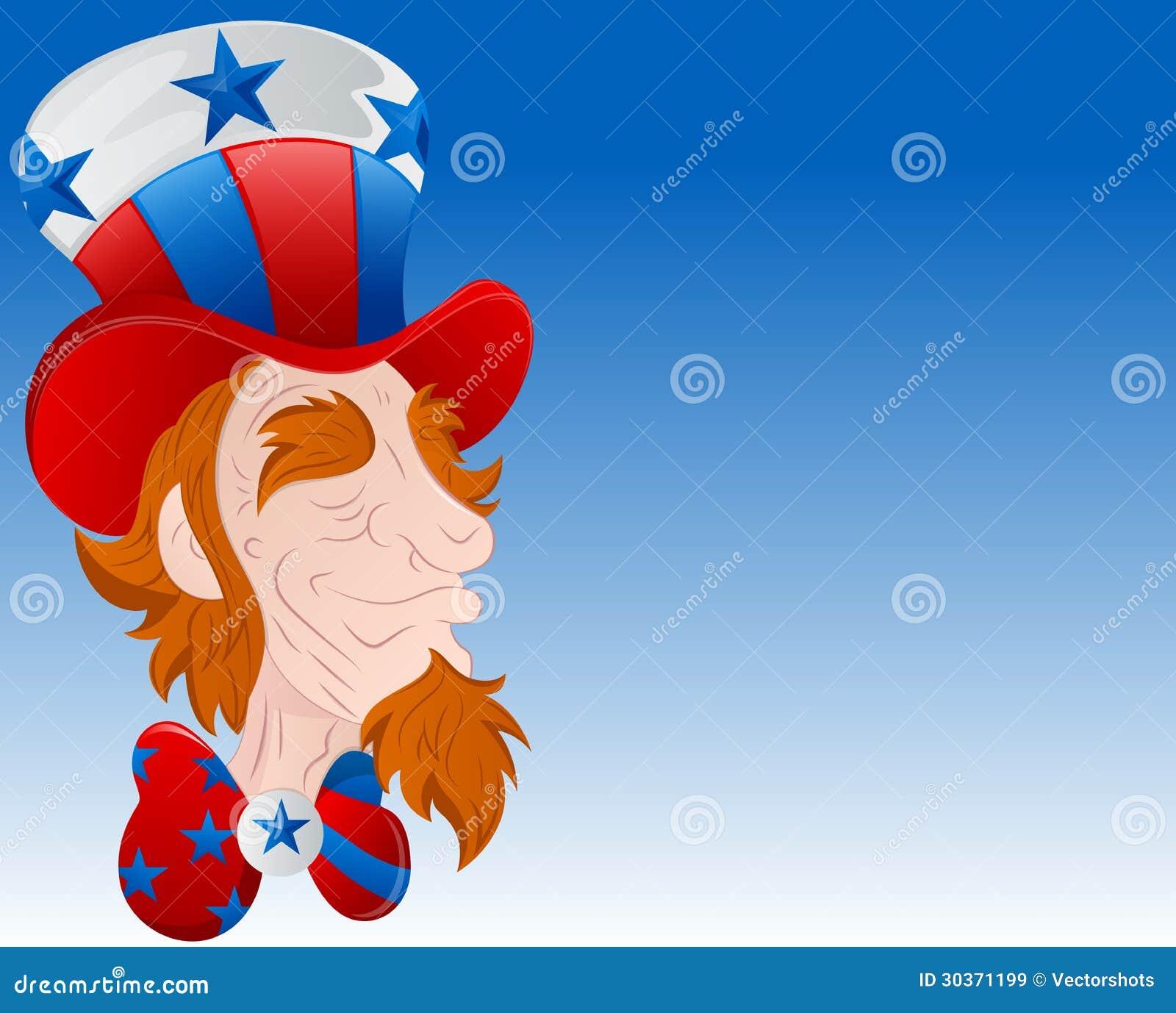 Close Up Characters Cartoon 01 : Uncle sam face closeup vector royalty free stock images
