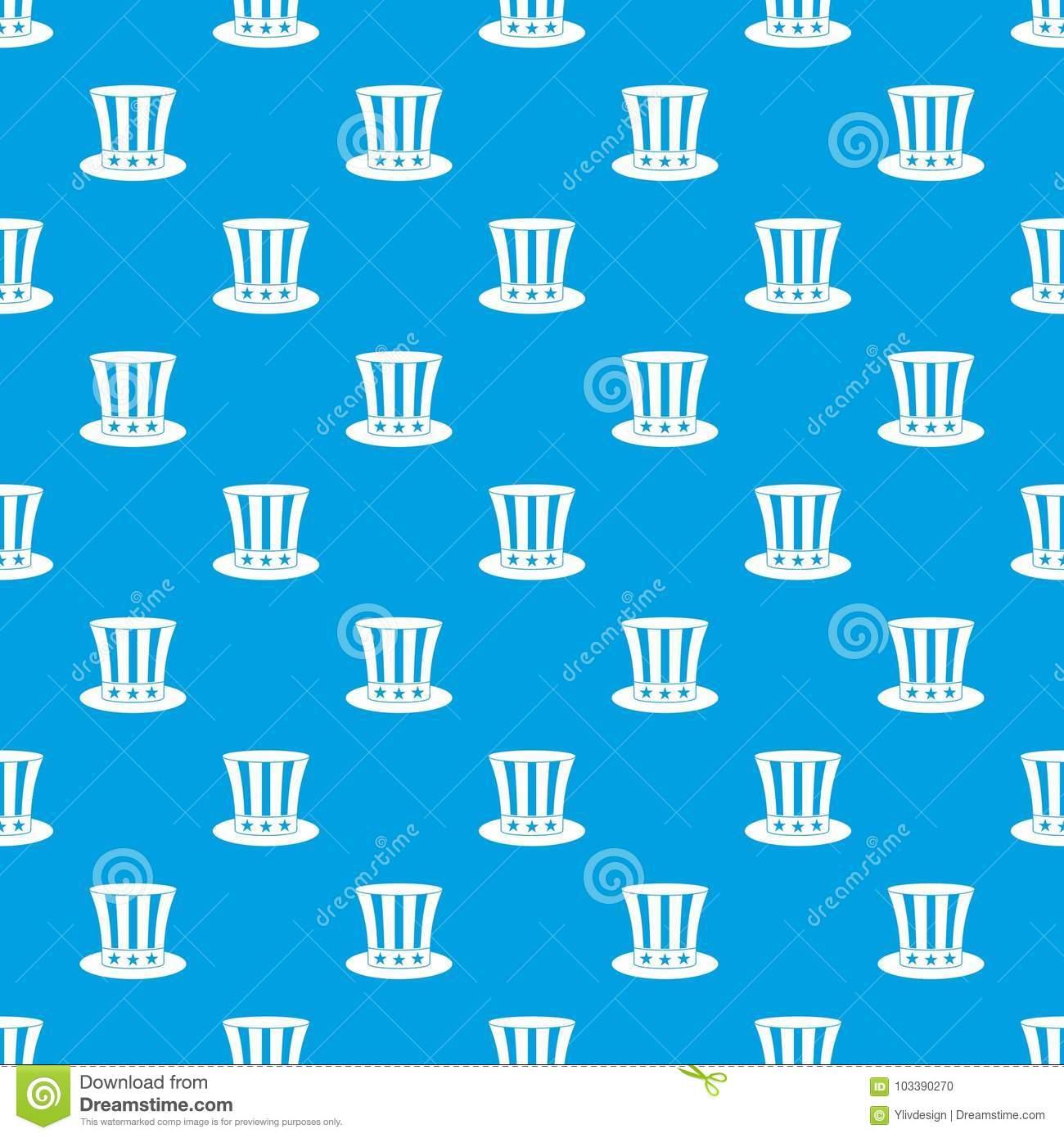 uncle sam hat pattern seamless blue stock vector illustration of