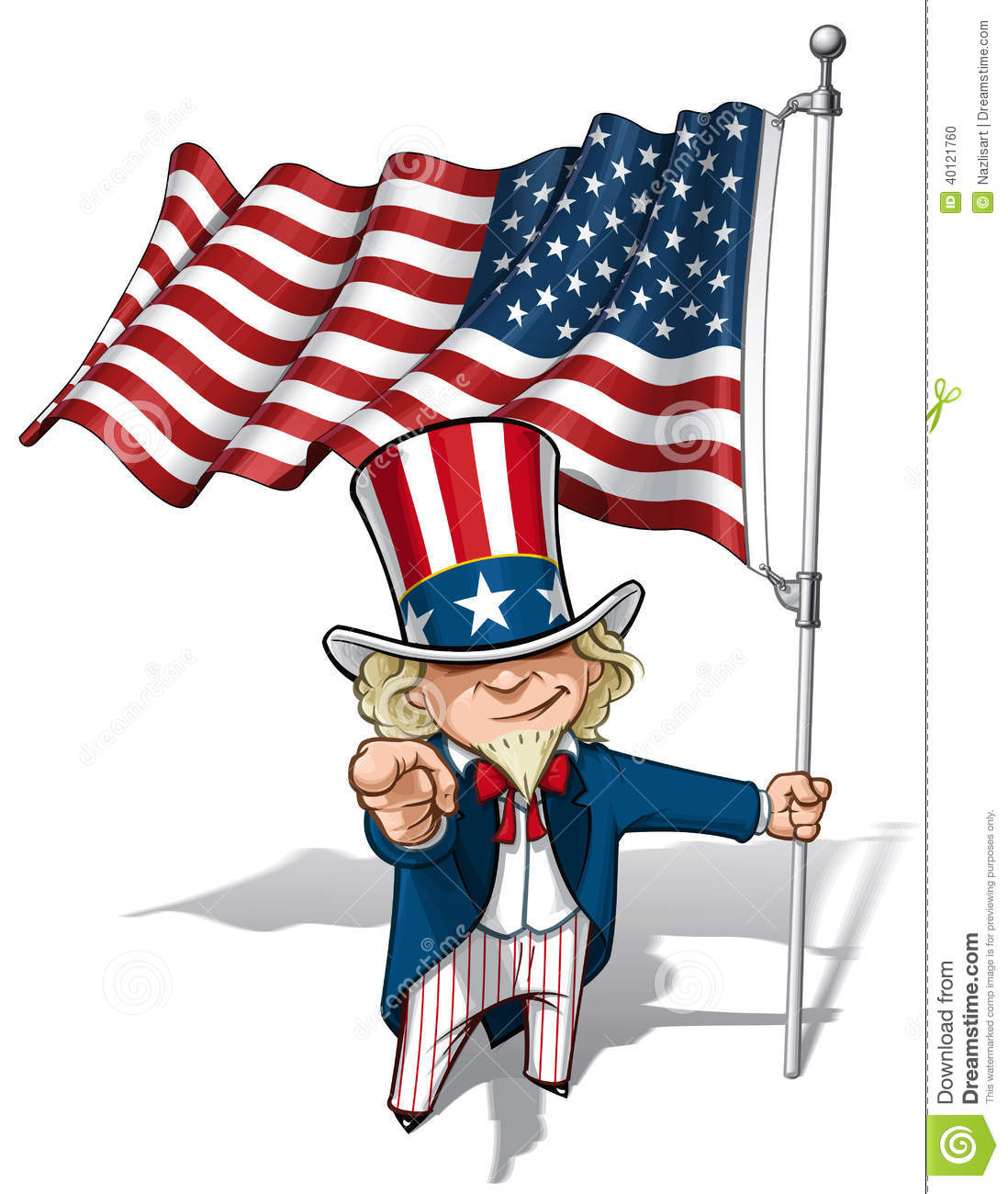 uncle sam i want you american flag stock vector image Waving American Flag Art American Flag Waving Drawing