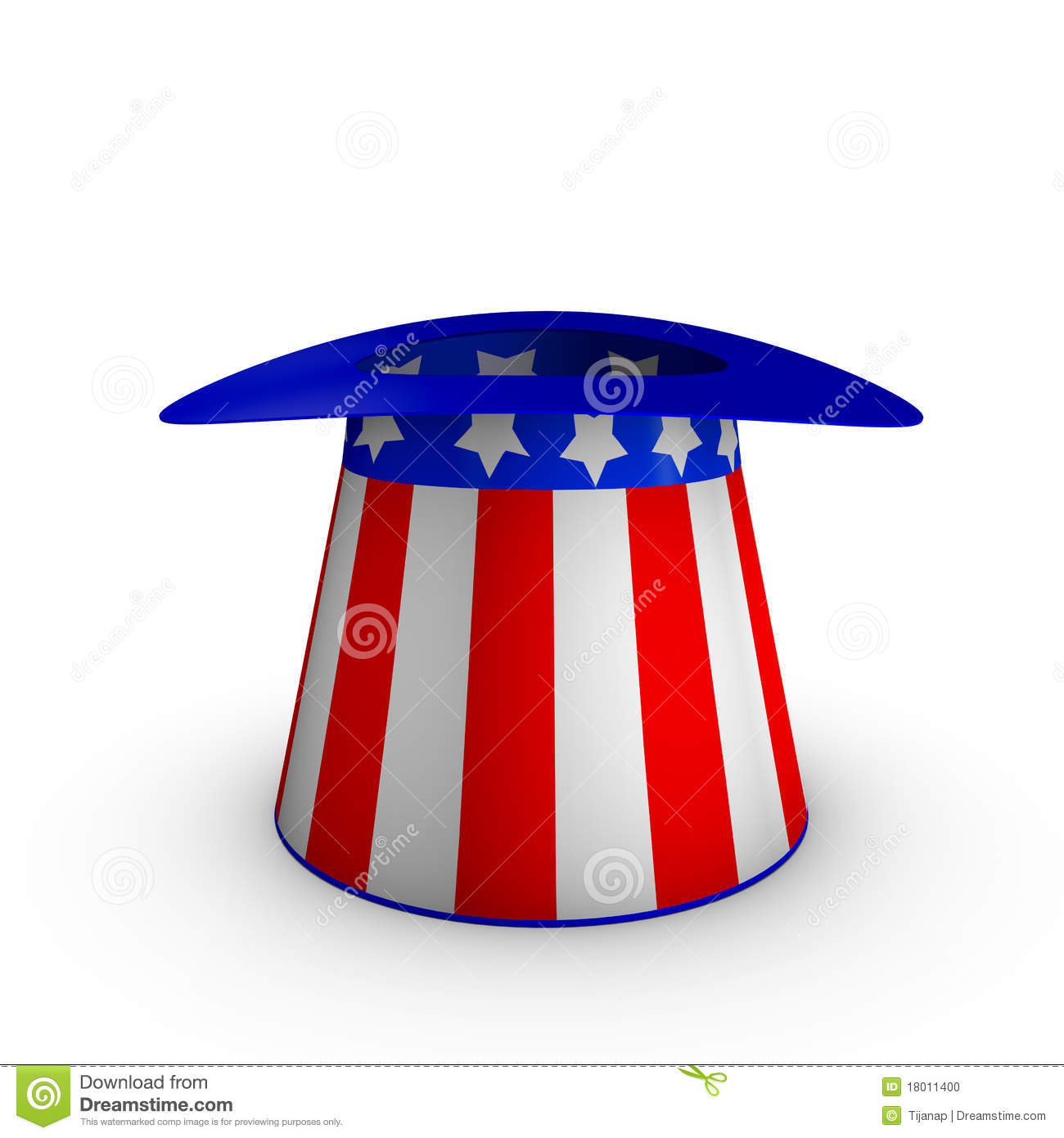 Uncle Sams Hat Stock Illustration Illustration Of Colorful 18011400