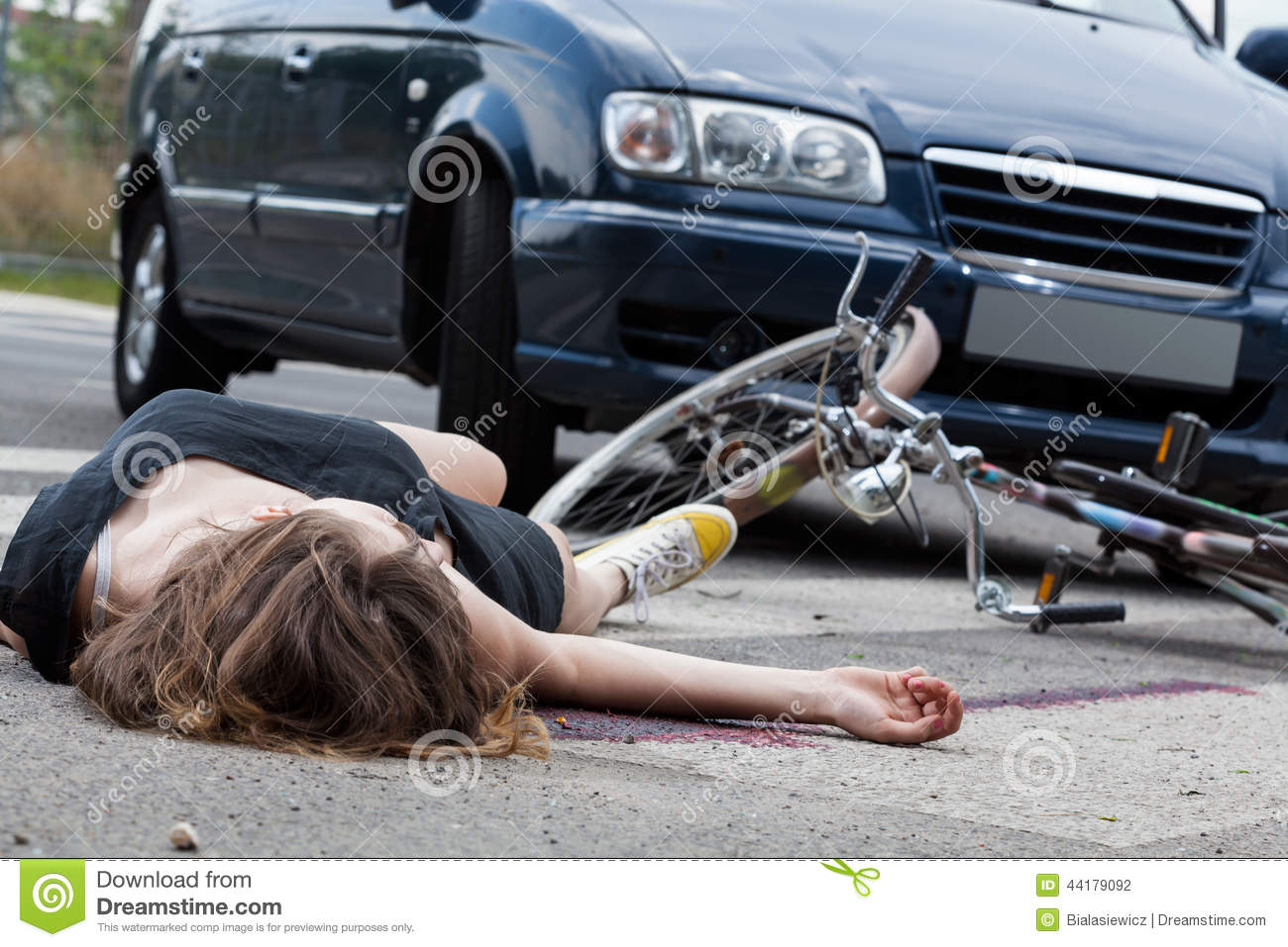 Girl Gets Hit By Car