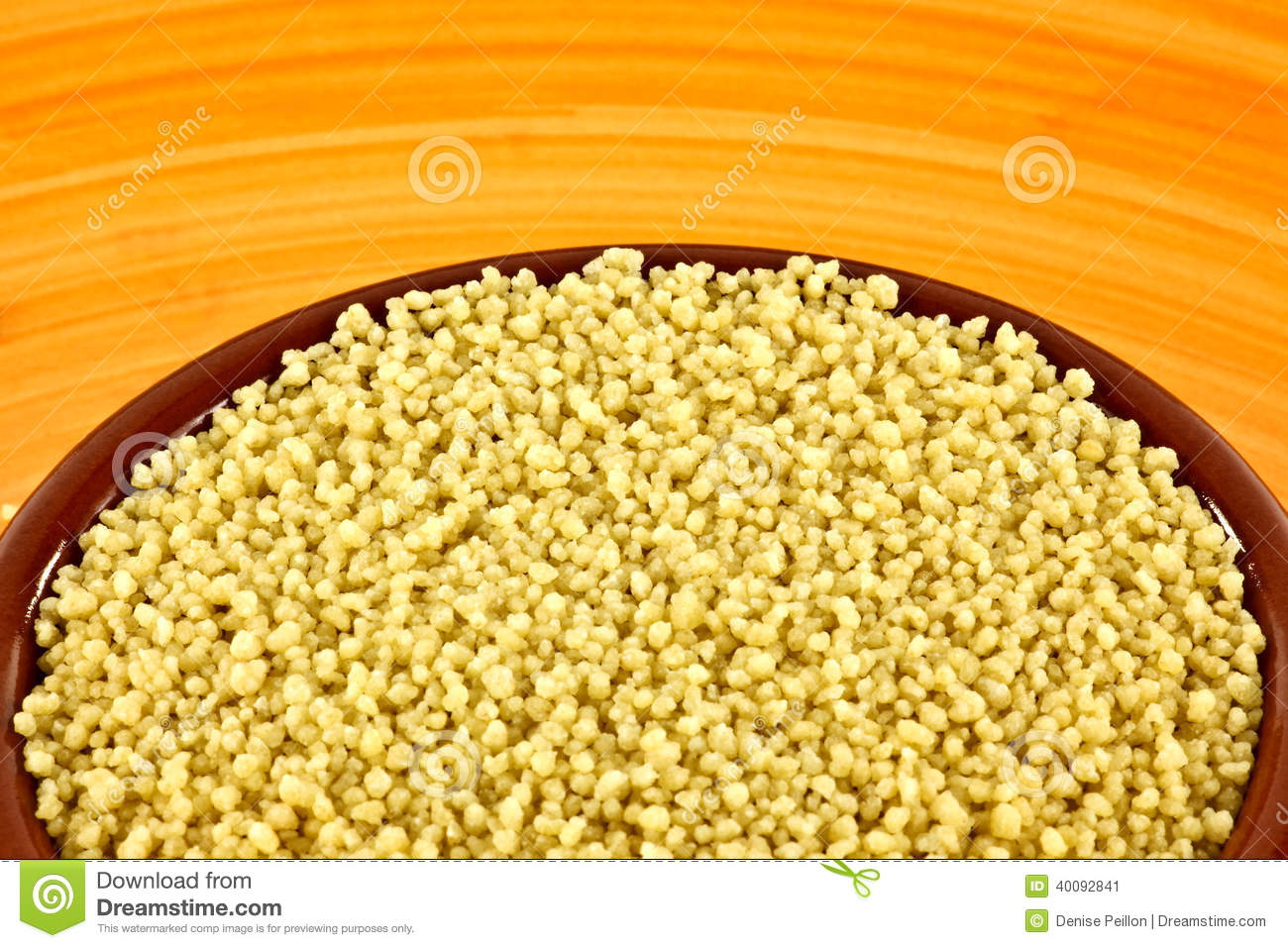Uncooked Couscous Stock Photo - Image: 40092841