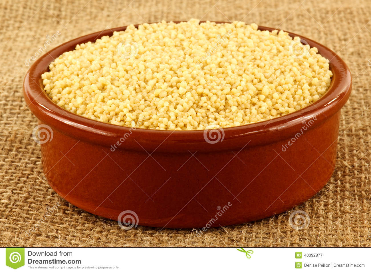 Uncooked Couscous Stock Photo - Image: 40092877