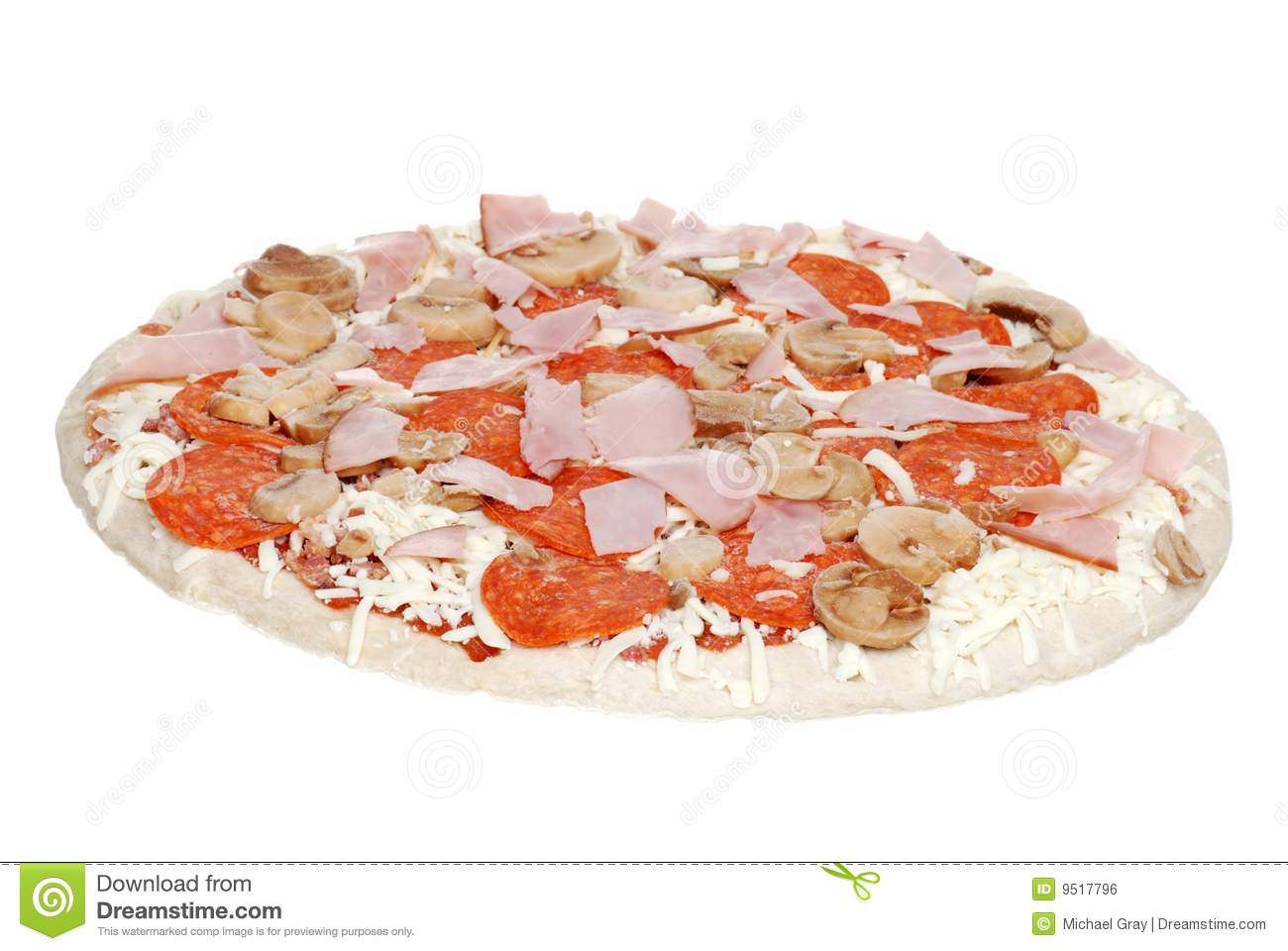Uncooked pizza stock photo. Image of frozen, dough, cheesy ...