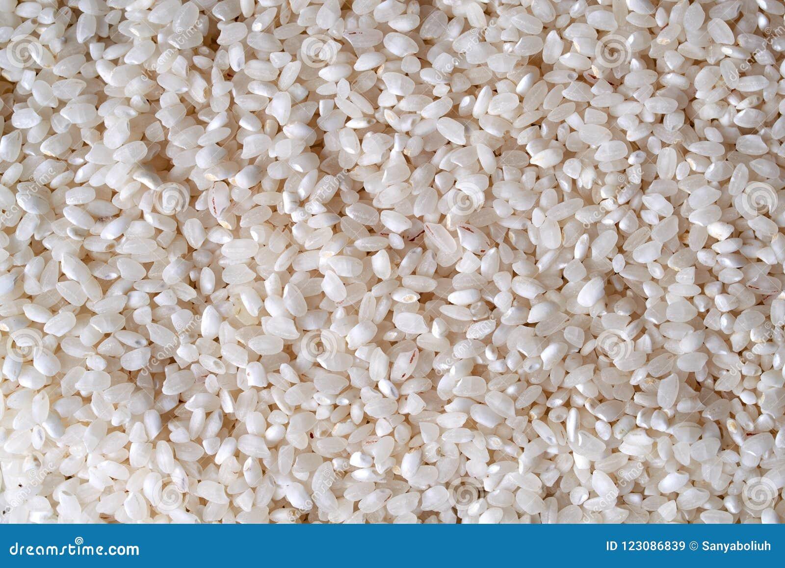 Uncooked ryżowa tekstura zamknięty karmowy surowy up świeży