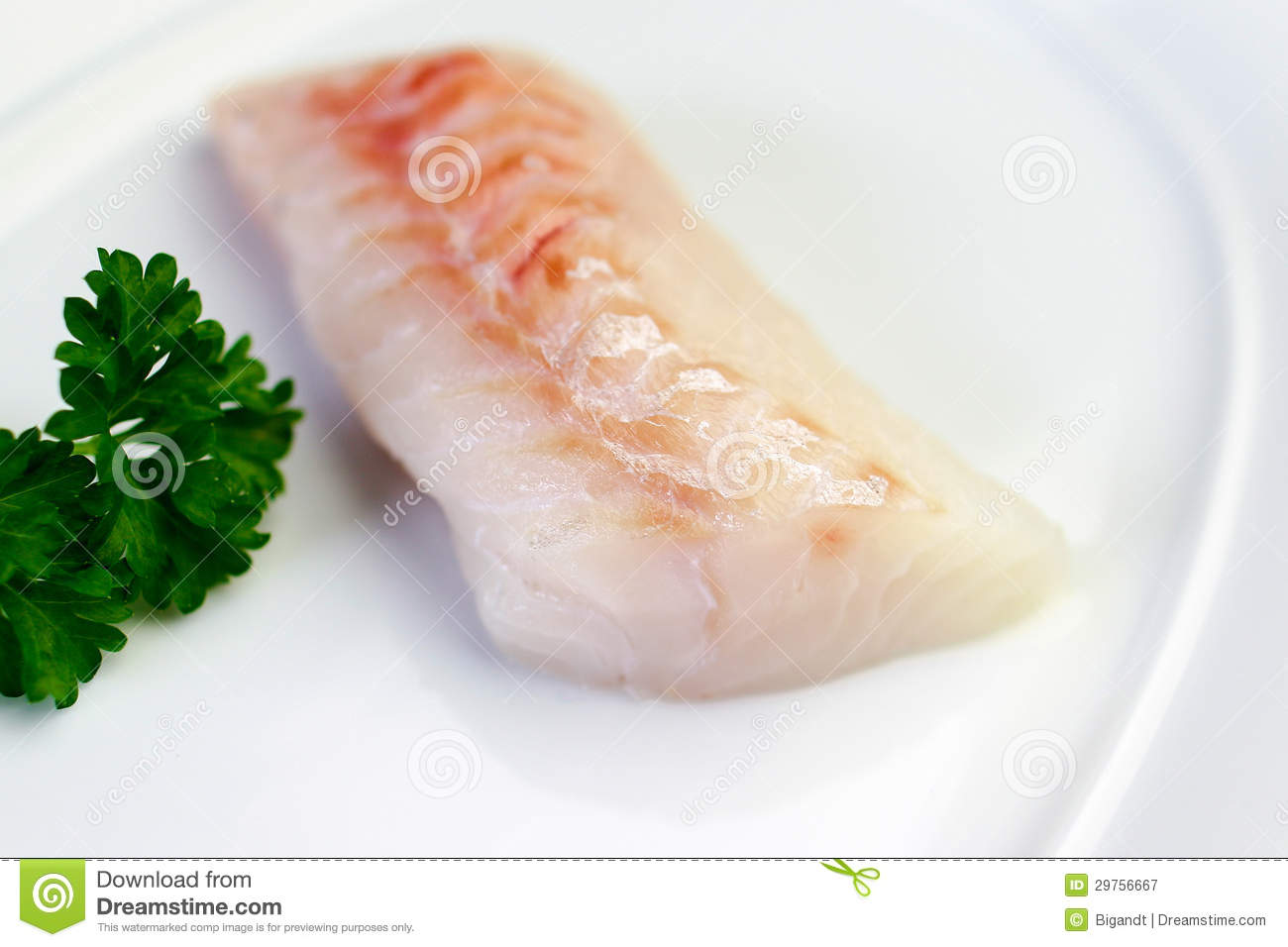 White fish ready for cooking royalty free stock for Cooking white fish