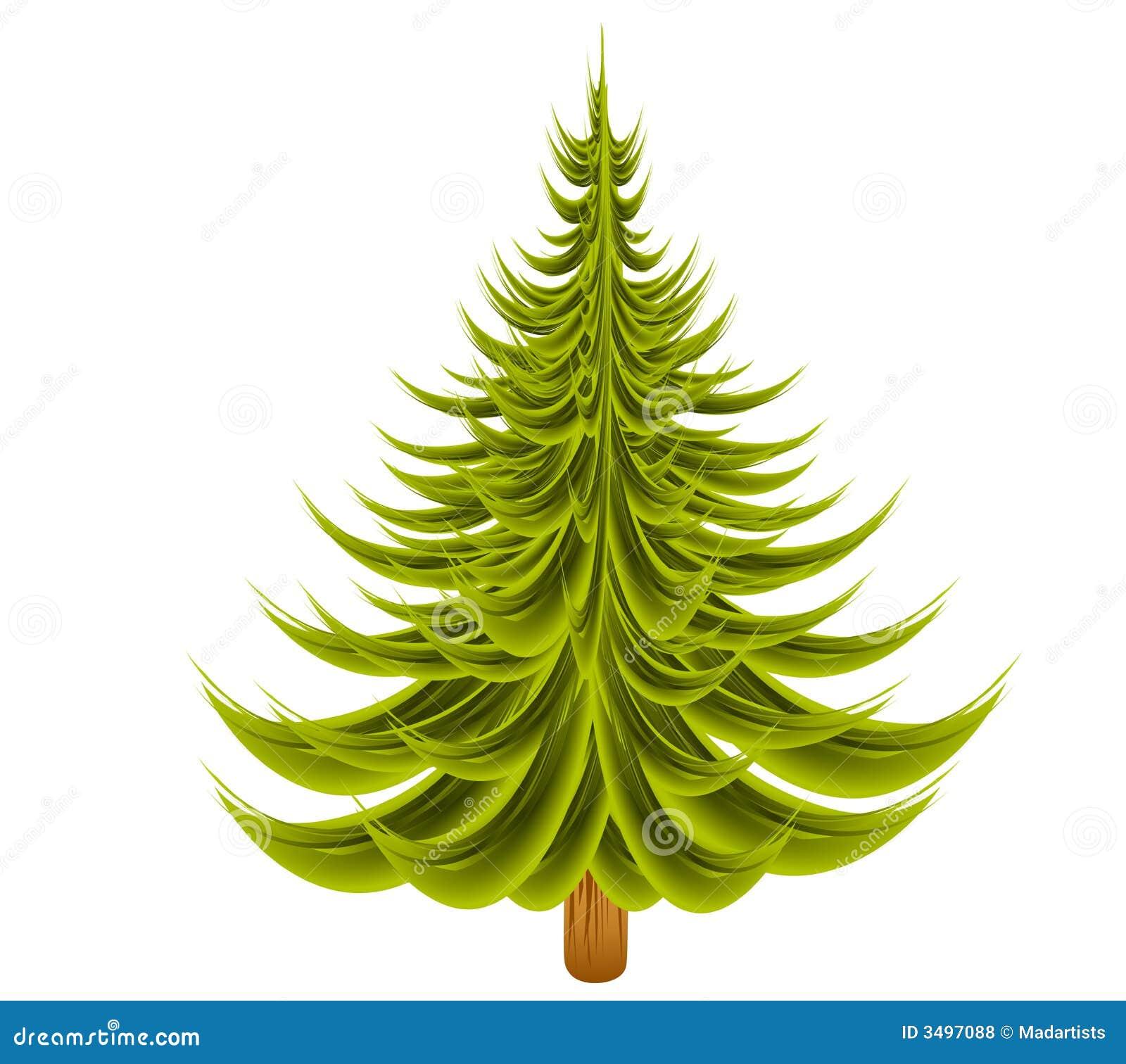 Undecorated Christmas Tree stock illustration ...