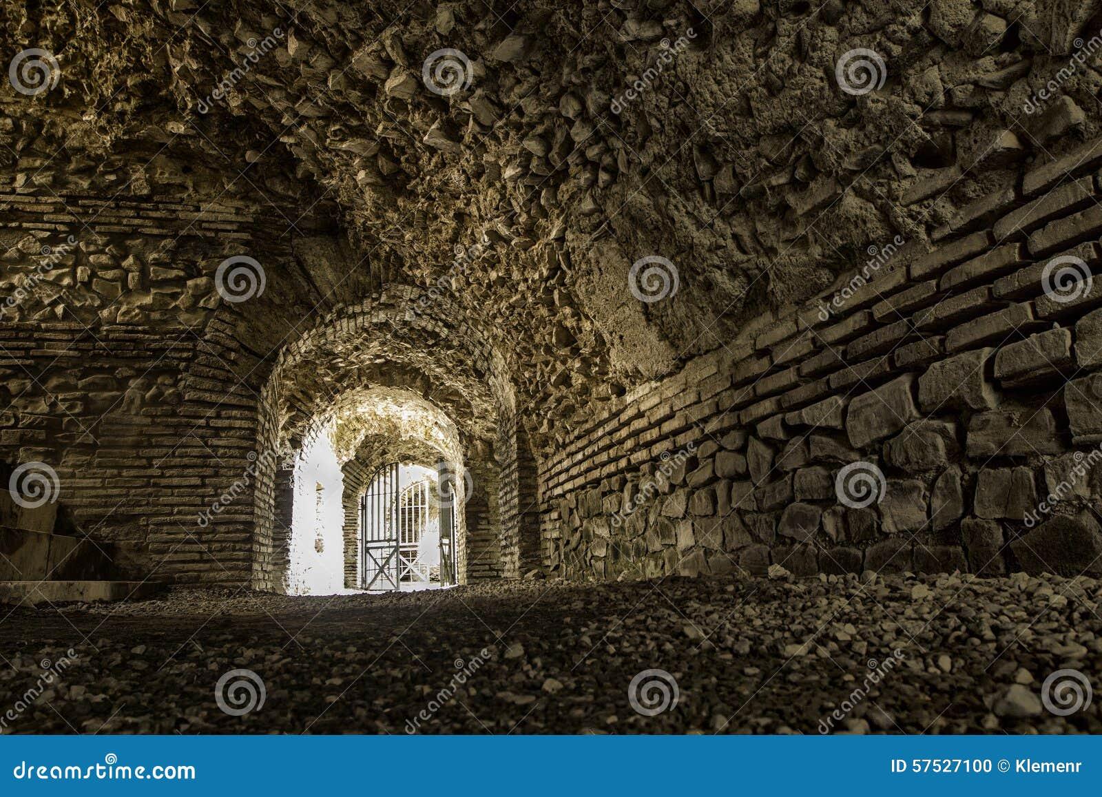 Under amphitheater in city of Duress