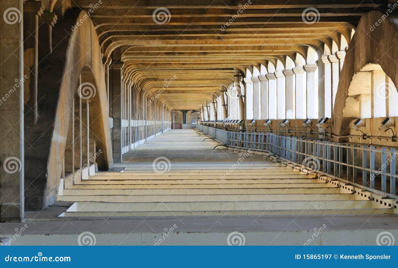 Under the bridge deck