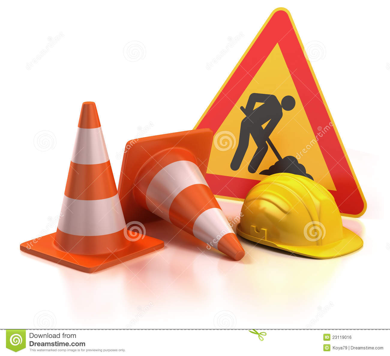 Under Construction 3d Concept Royalty Free Stock Image