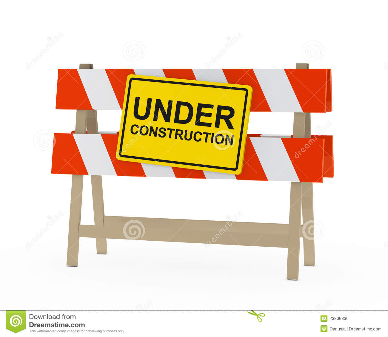 Under construction barrier stock illustration