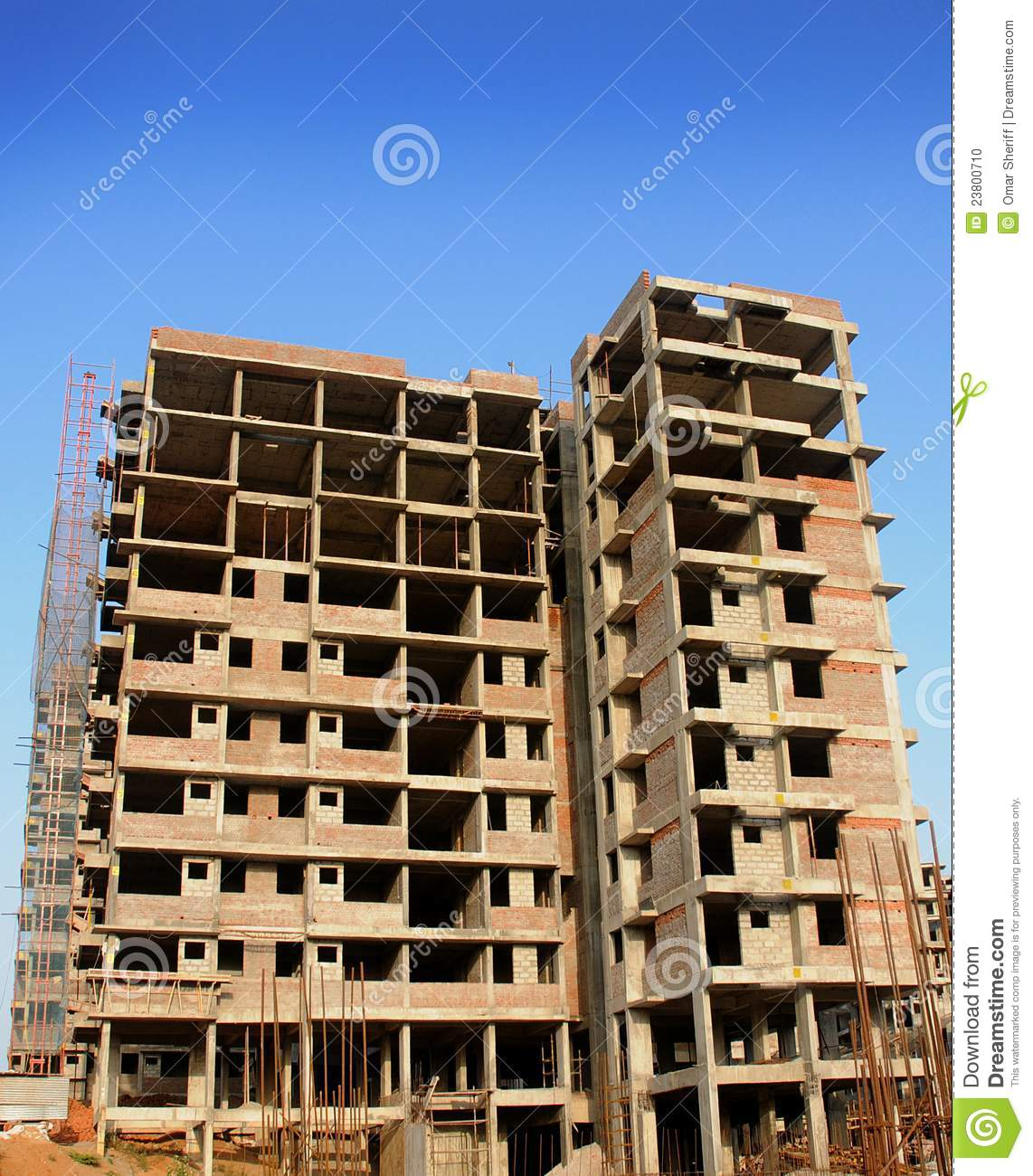 Building Under Construction : Under construction building stock photo image