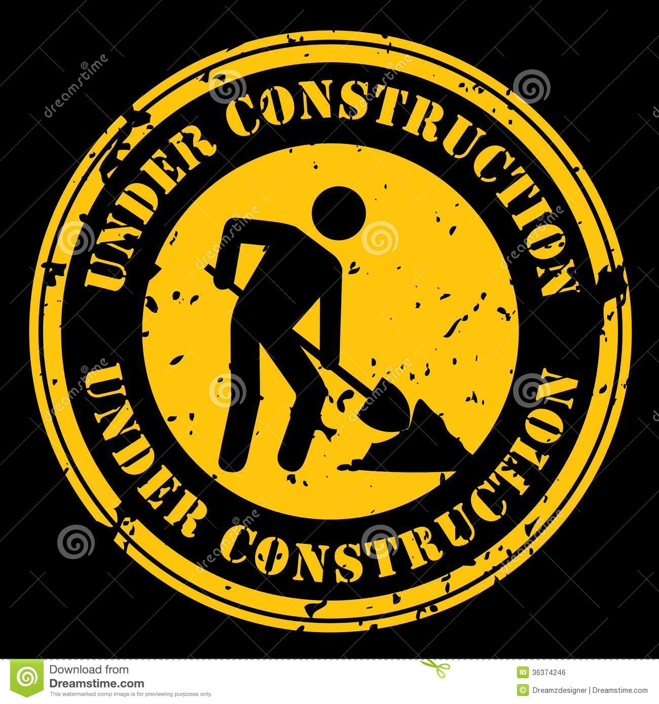 Under Construction Royalty Free Stock Image - Image: 36374246 Under Construction Logo