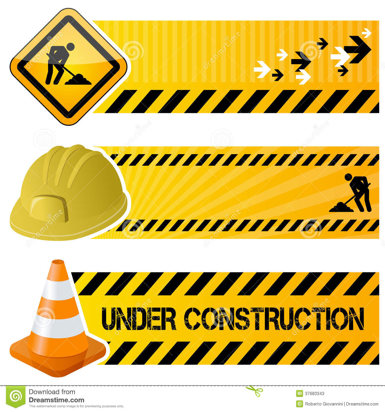 Under Construction Horizontal Banners