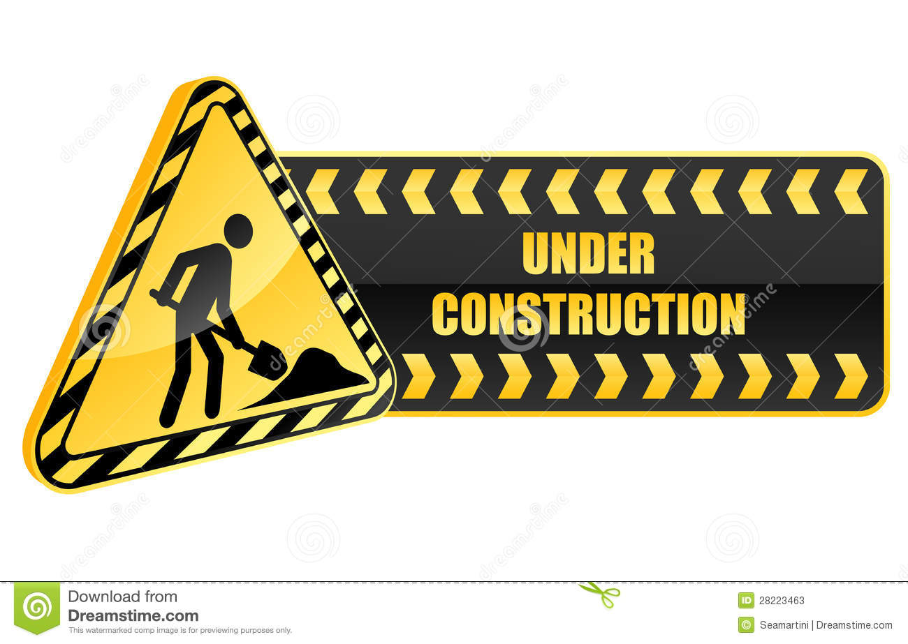 Under Construction Icon And Warning Stock Photos - Image: 28223463 Under Construction Signs