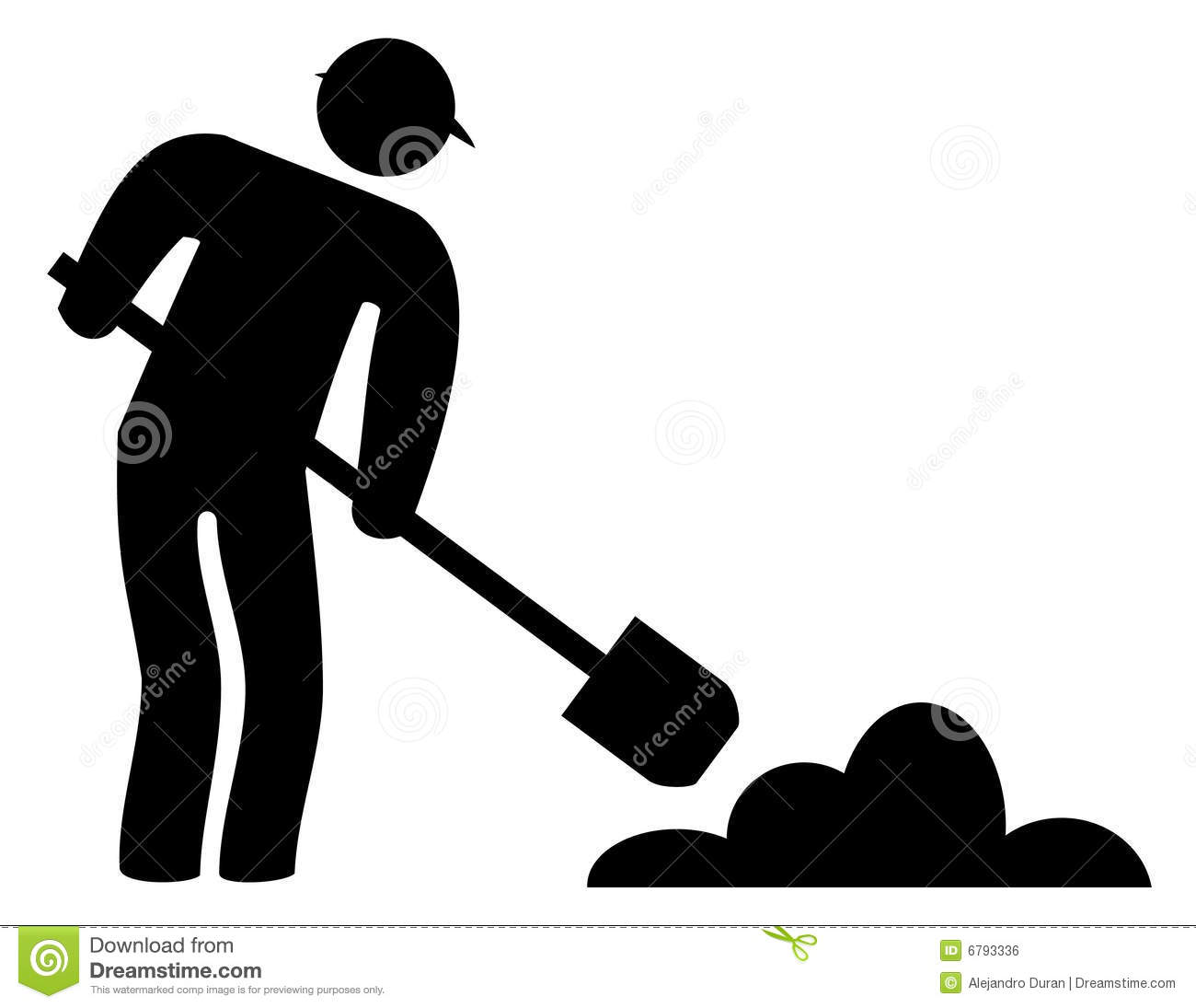 Under construction men in black and white Under Construction Clipart Black And White