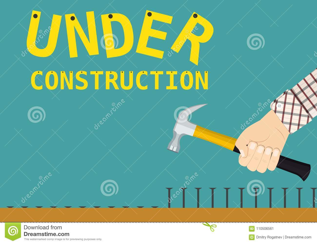 Under Construction Page Sign Stock Vector Illustration Of Label