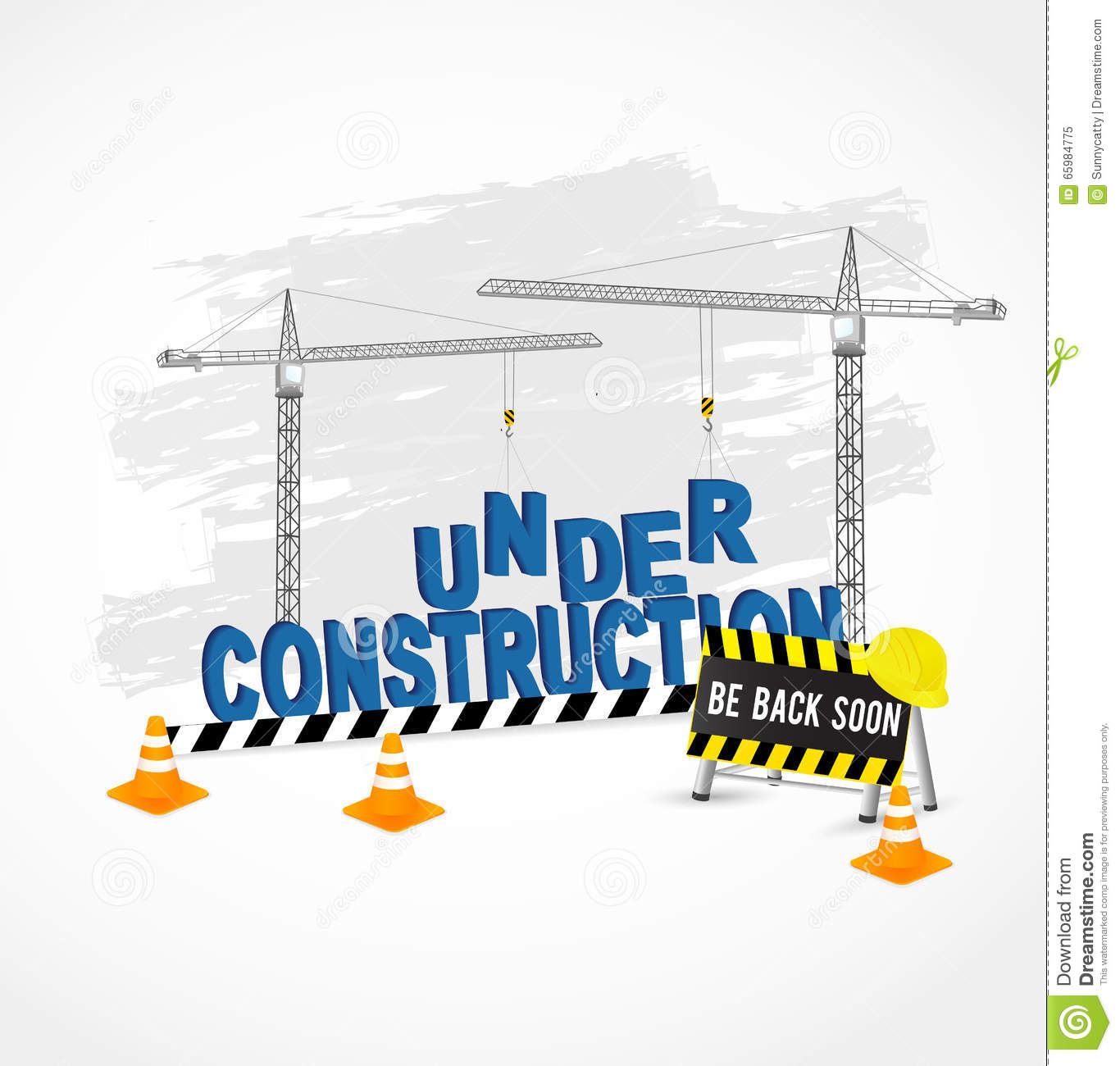 under construction page for web site royalty free vector